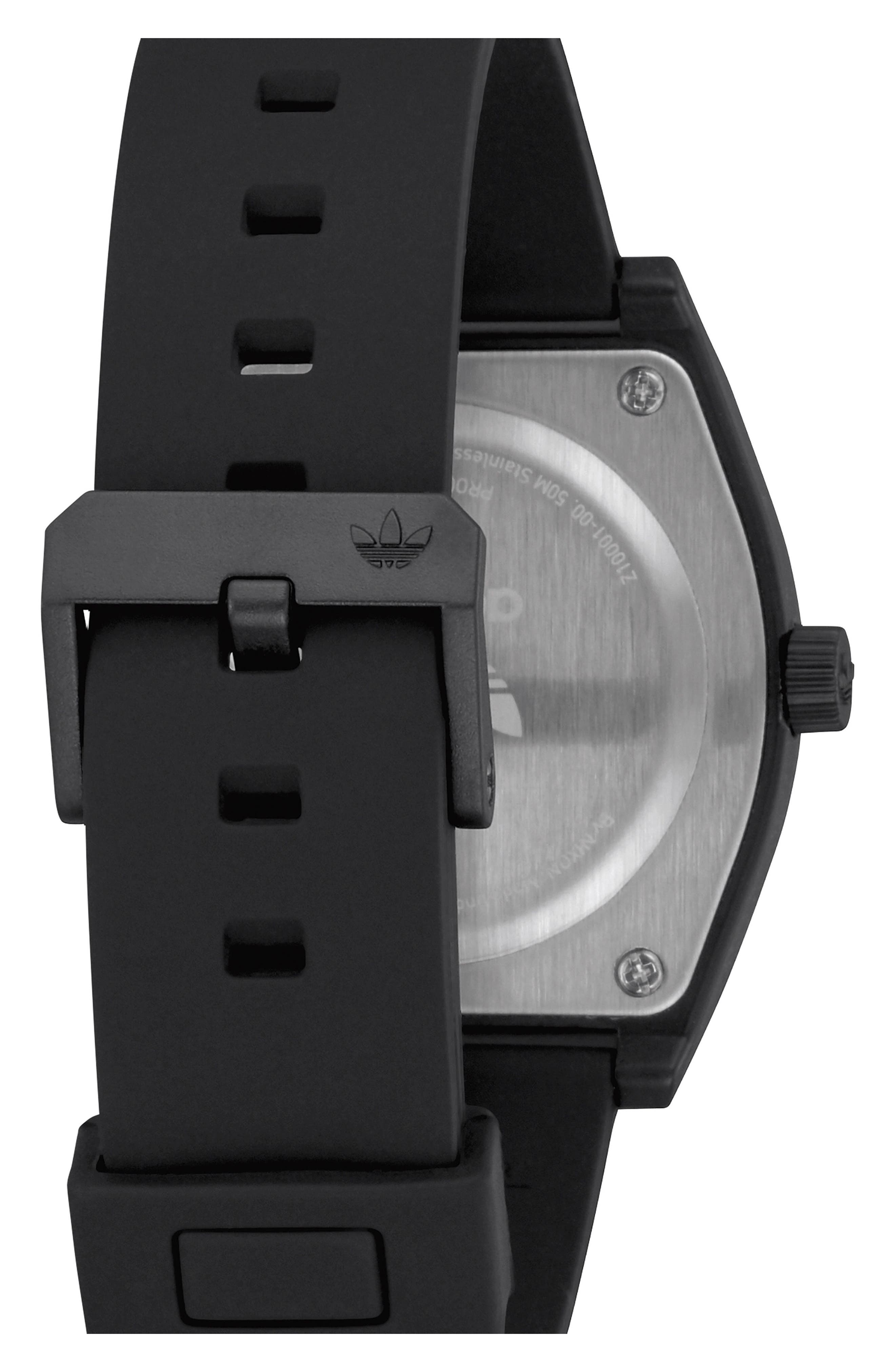 Process Silicone Strap Watch, 38mm,                             Alternate thumbnail 2, color,                             Black