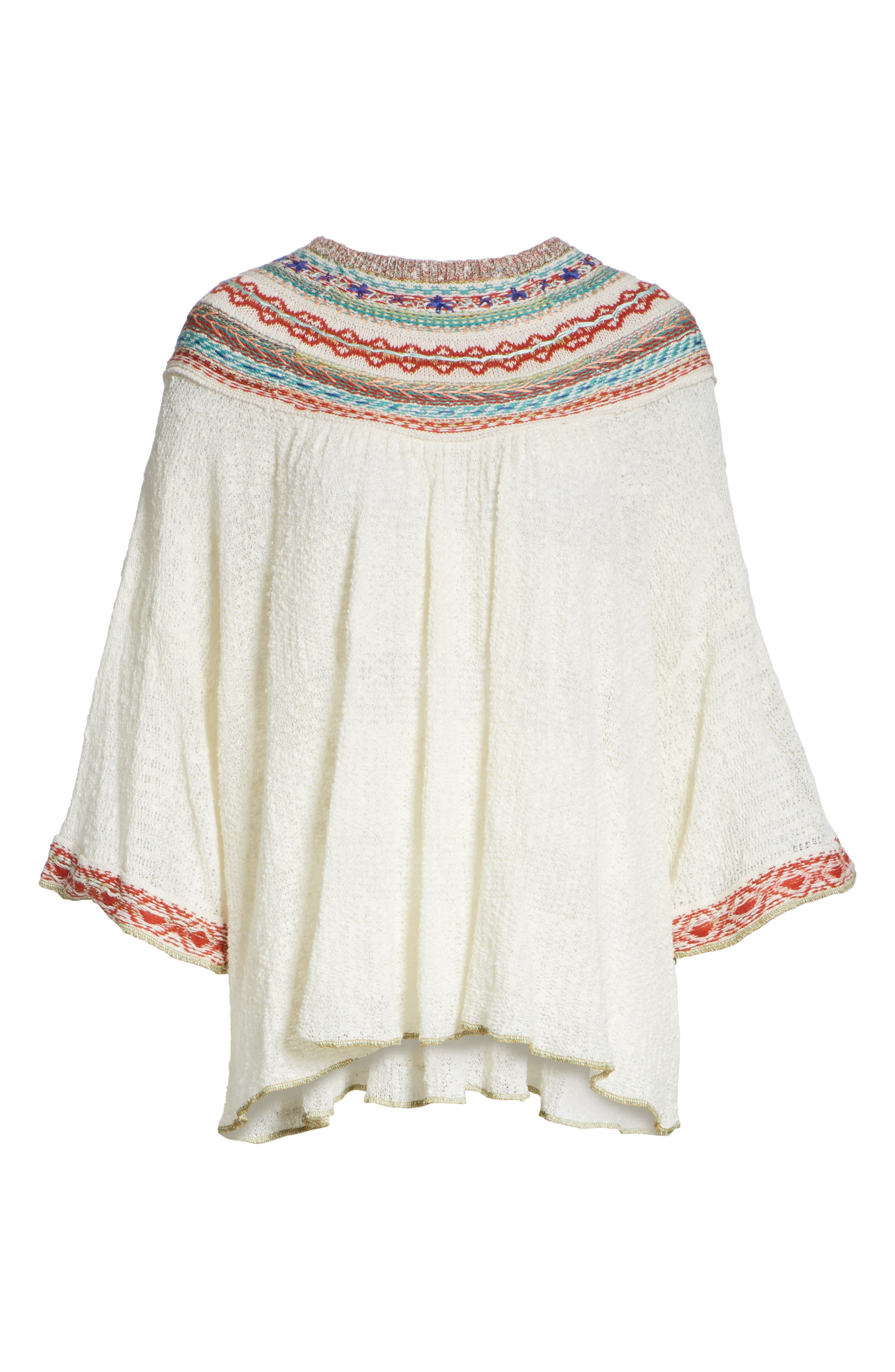 Vacation Sweater,                             Alternate thumbnail 6, color,                             Ivory