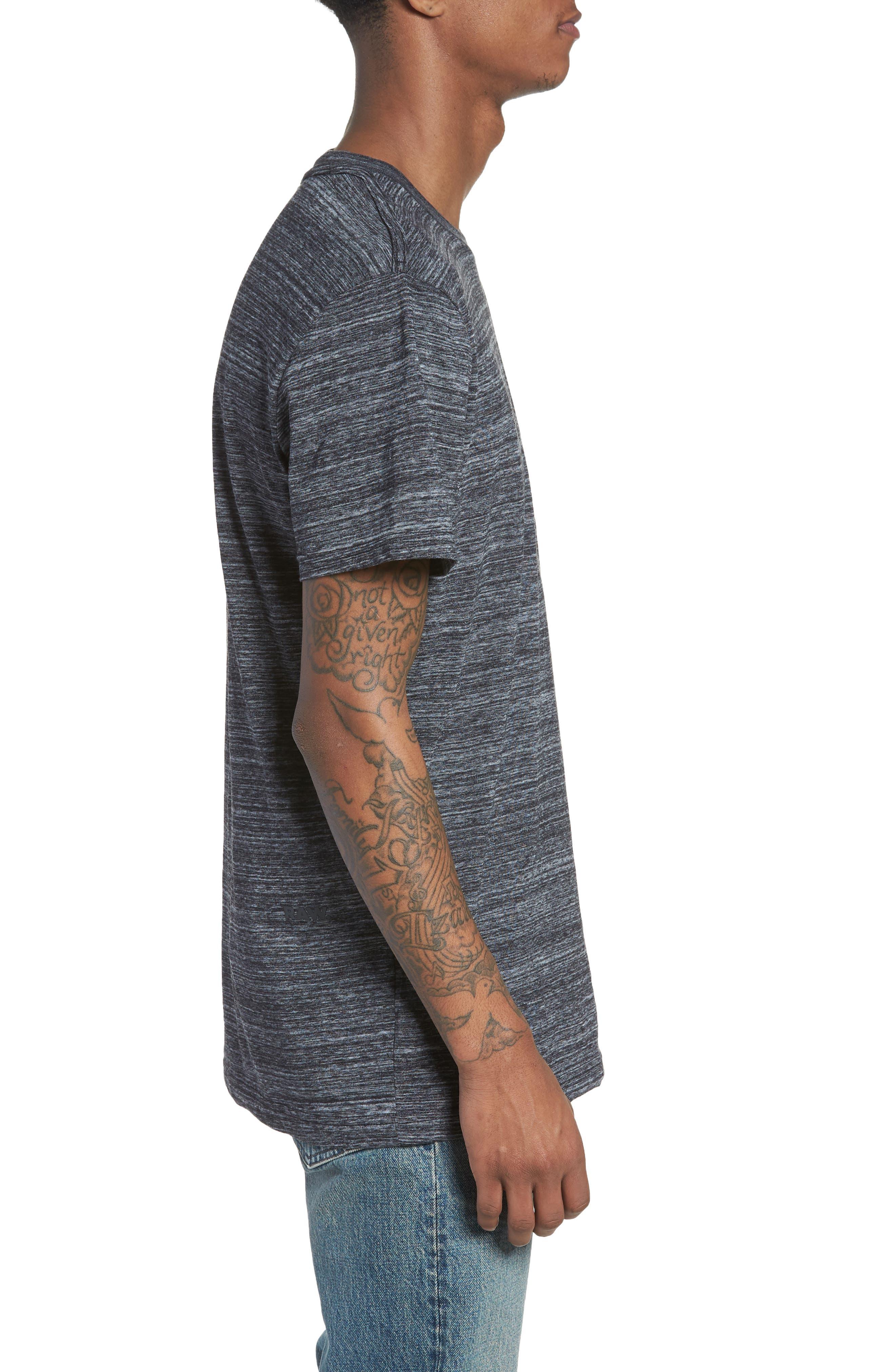 New Classic Regular T-Shirt,                             Alternate thumbnail 3, color,                             Dark Black Heather