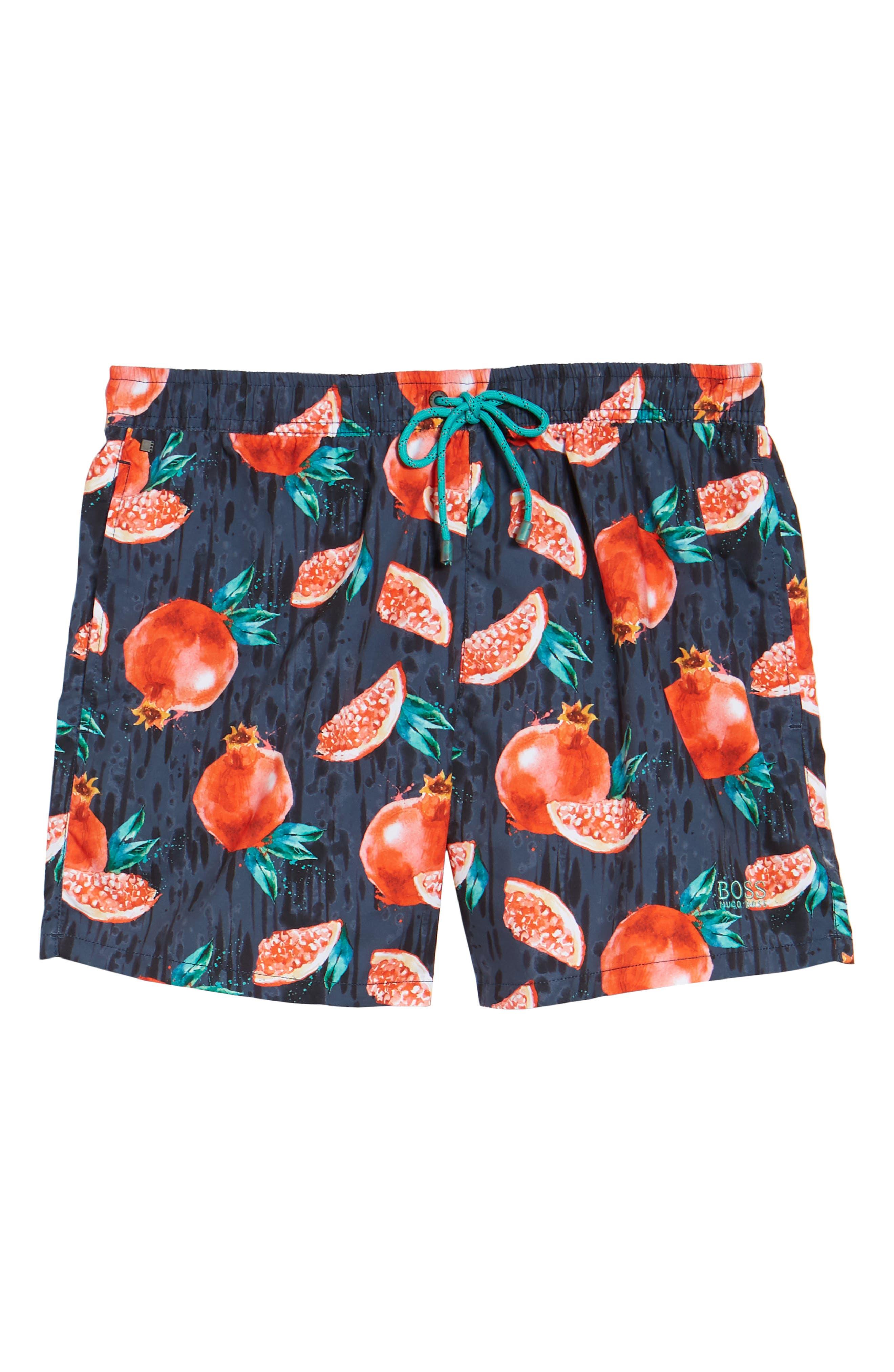 Threadfin Pomegranate Swim Trunks,                             Alternate thumbnail 6, color,                             Grey