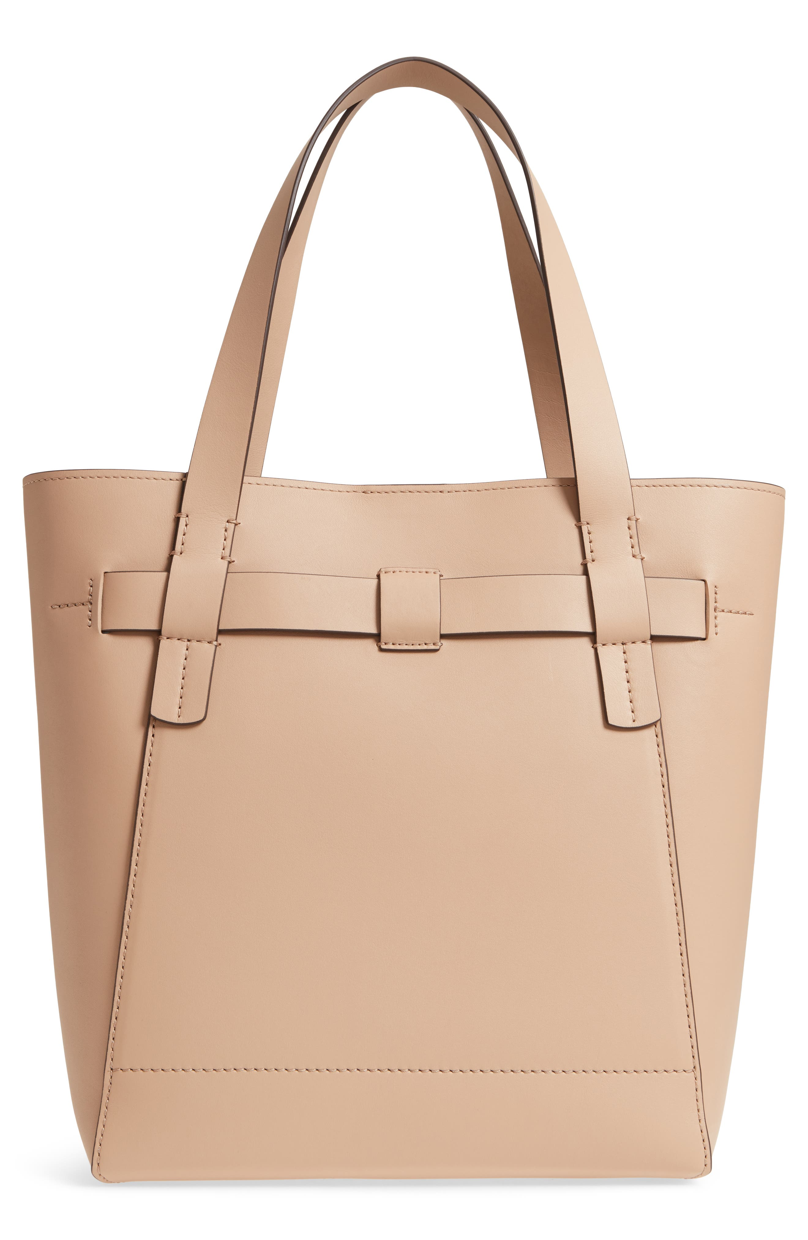 Gemini Link Leather Tote,                             Alternate thumbnail 3, color,                             Perfect Sand