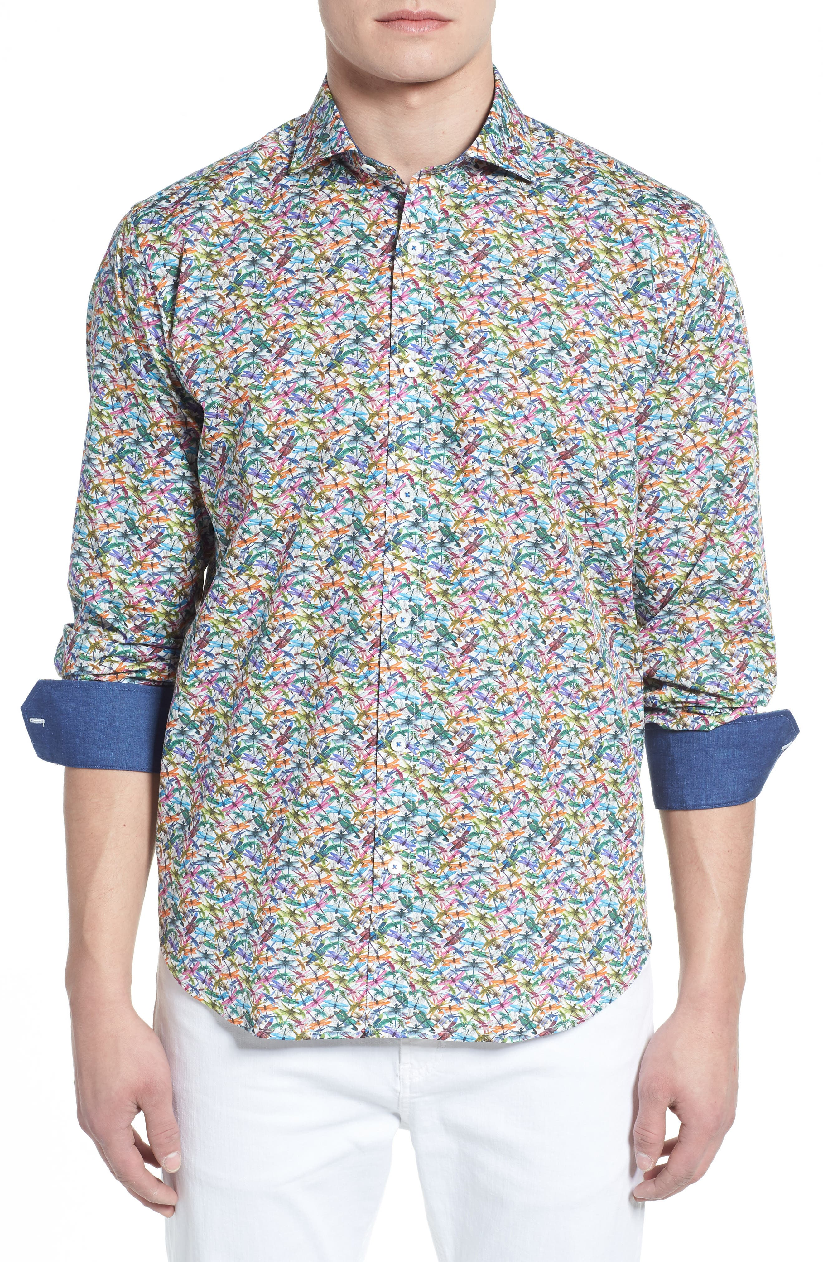 Classic Fit Sport Shirt,                         Main,                         color, Candy