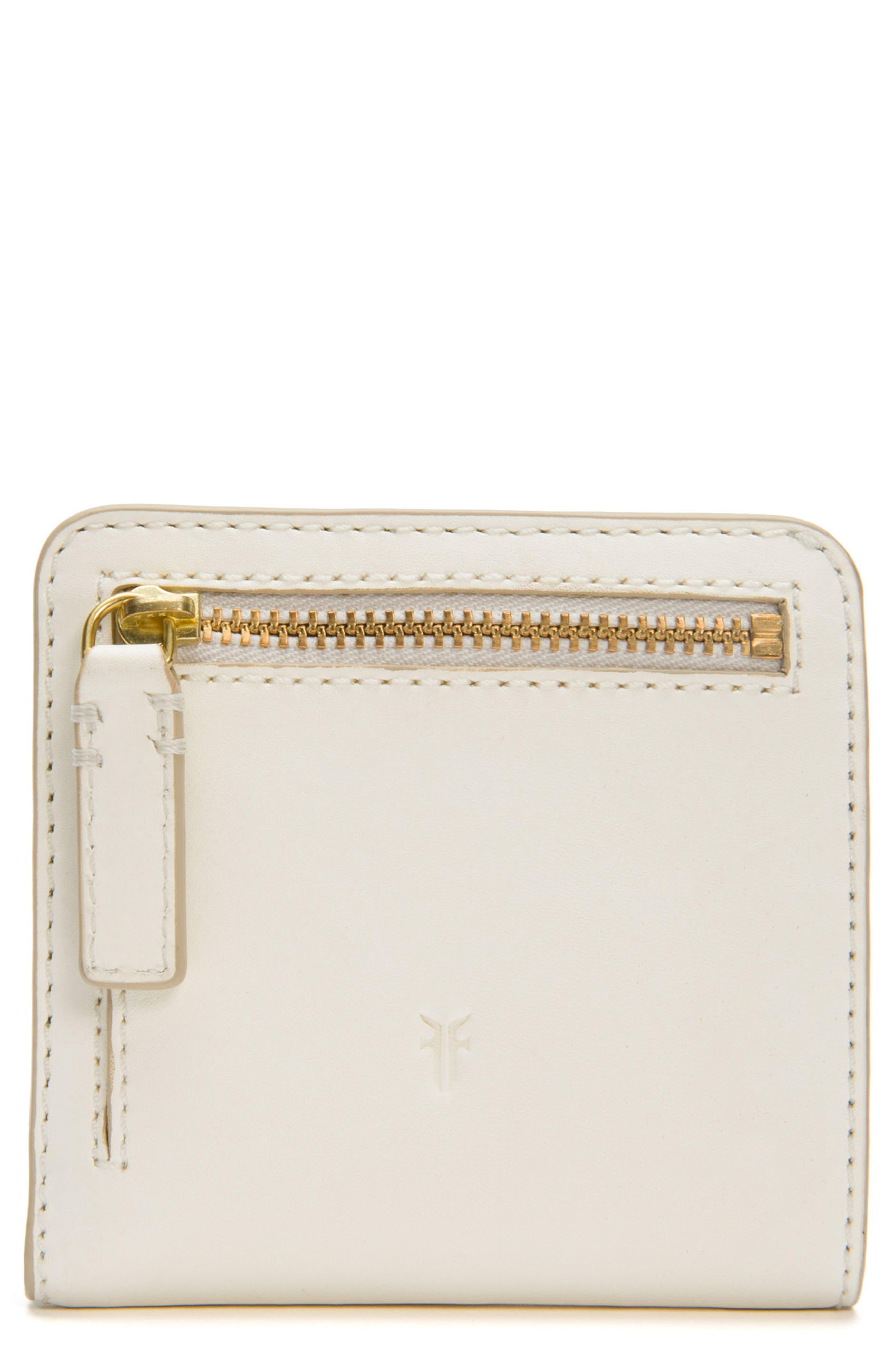 Carson Small Leather Wallet,                             Alternate thumbnail 4, color,                             White