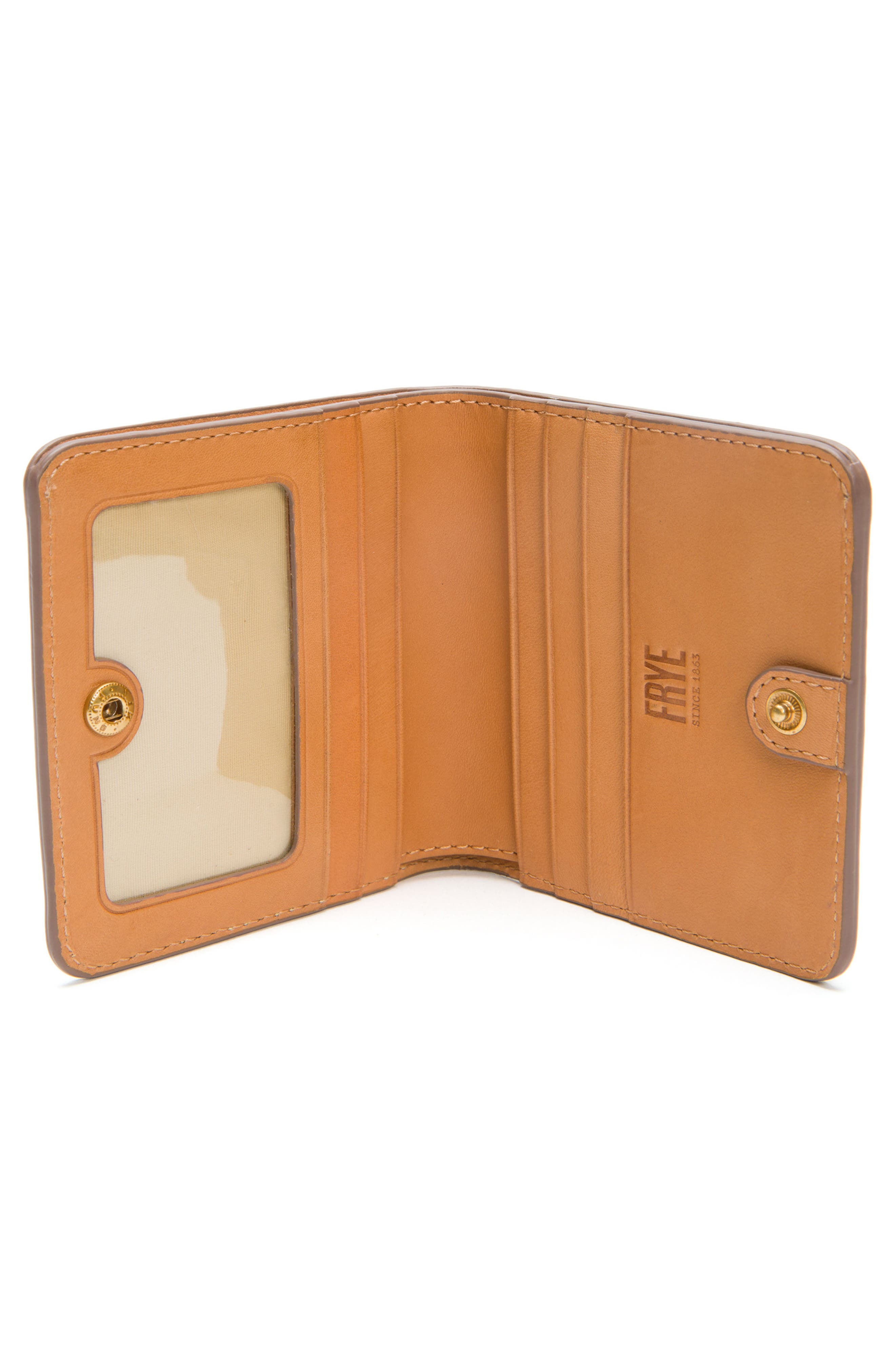 Carson Small Leather Wallet,                             Alternate thumbnail 2, color,                             Sunrise