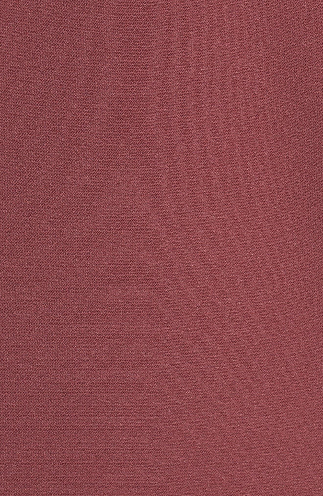 Colorblock Midi Dress,                             Alternate thumbnail 5, color,                             Black/ Pandora