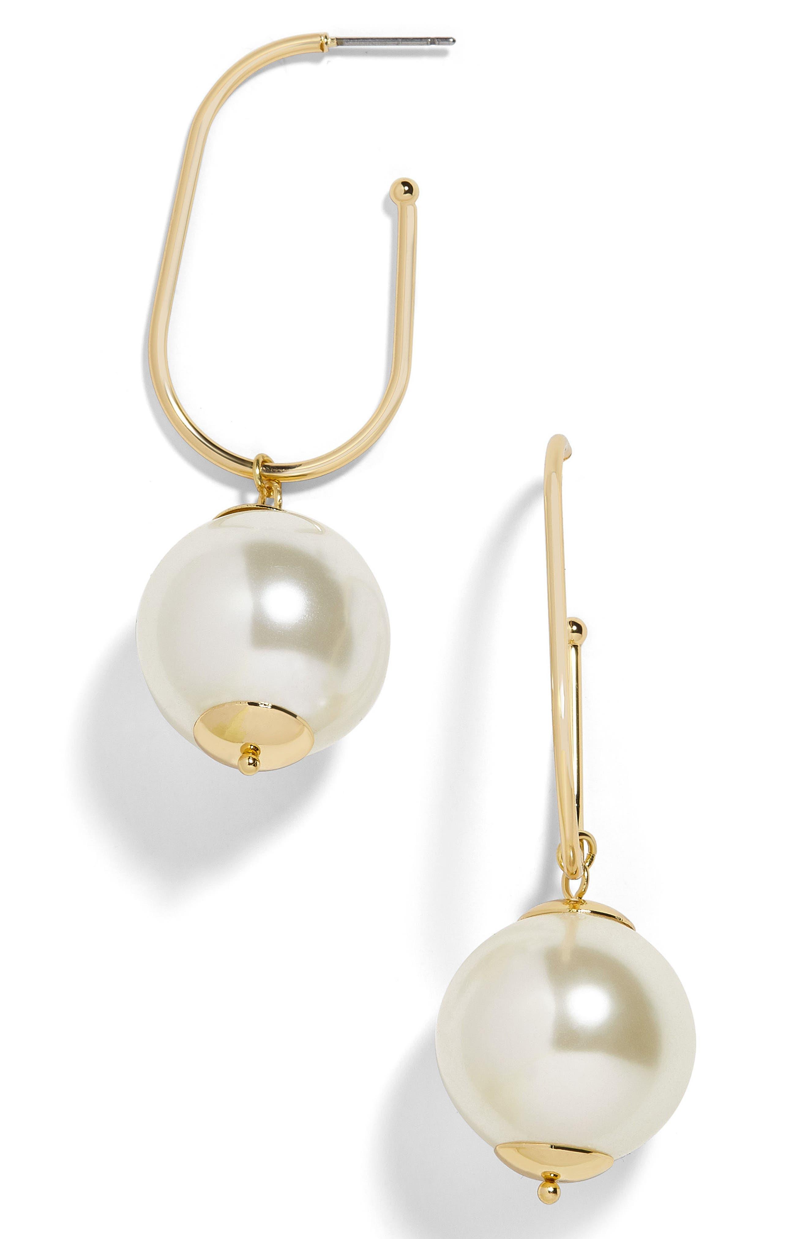 Alternate Image 1 Selected - BaubleBar Shelby Imitation Pearl Drop Earrings
