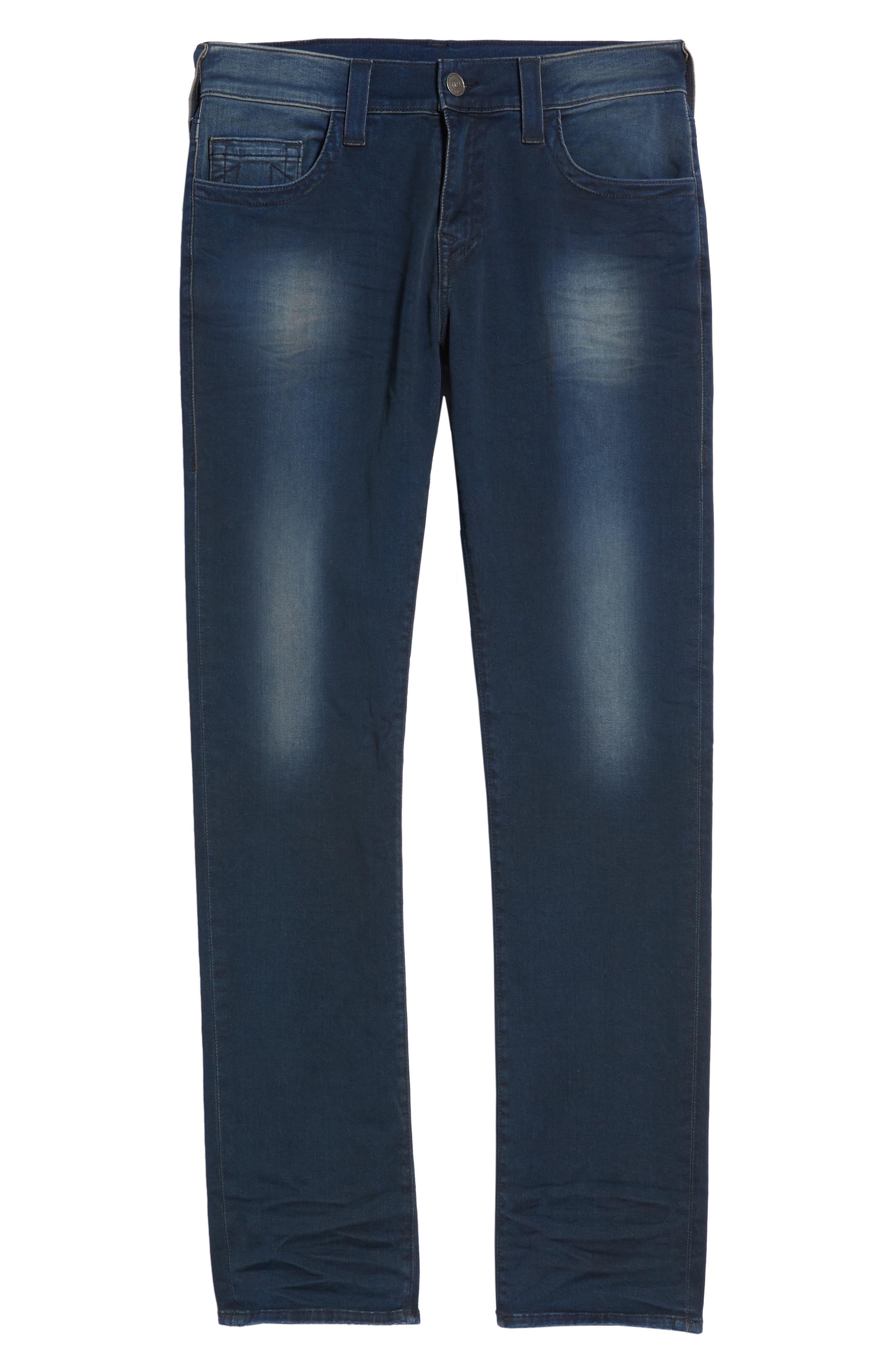 Geno Straight Leg Jeans,                             Alternate thumbnail 6, color,                             Dark Navy