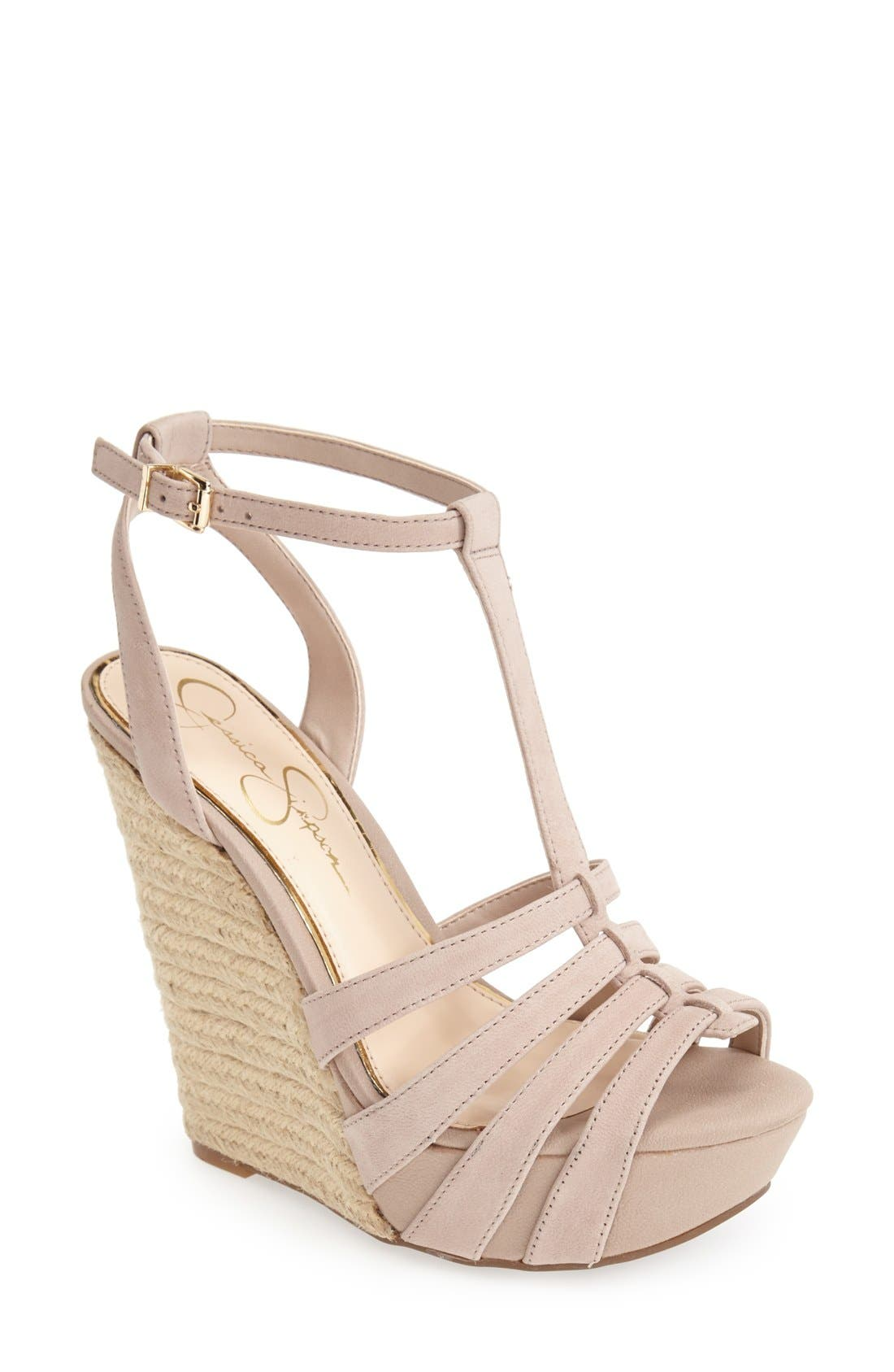 Alternate Image 1 Selected - Jessica Simpson 'Bristol' Ankle Strap Platform Wedge Sandal (Women)