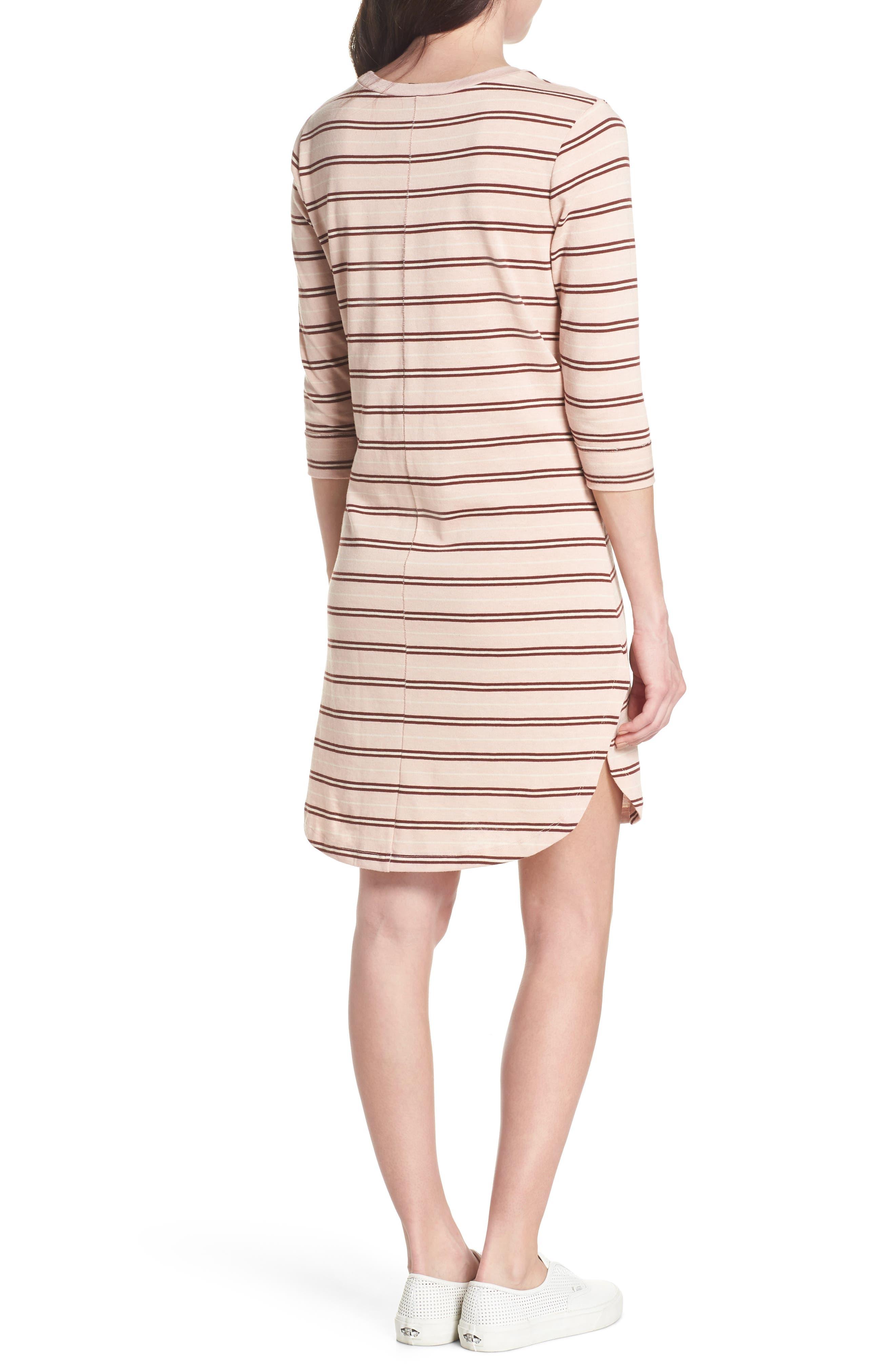 Saul Tunic Dress,                             Alternate thumbnail 2, color,                             Blush 90S Stripe