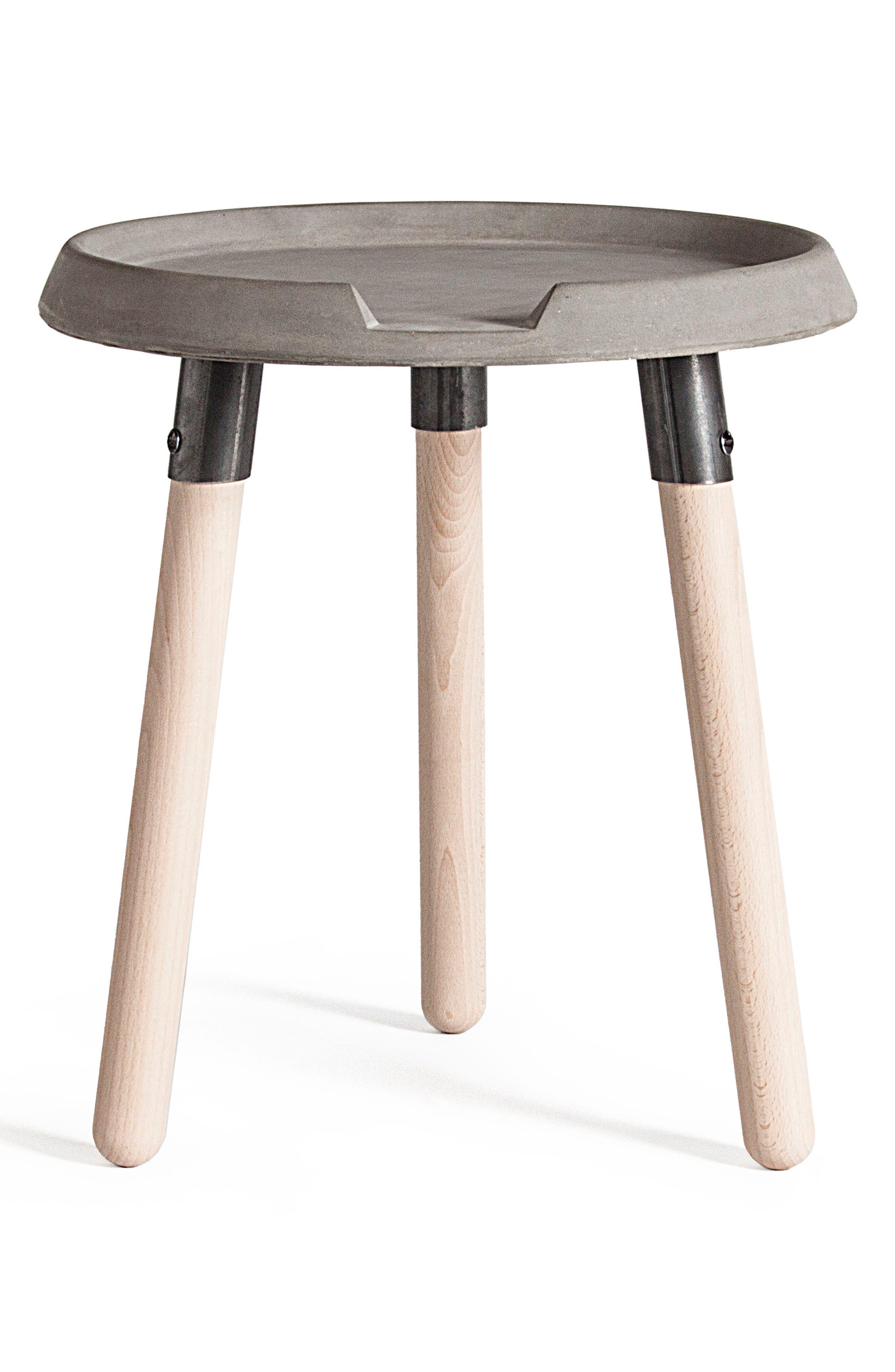 Lyon Béton Mix Side Table,                             Main thumbnail 1, color,                             Cement