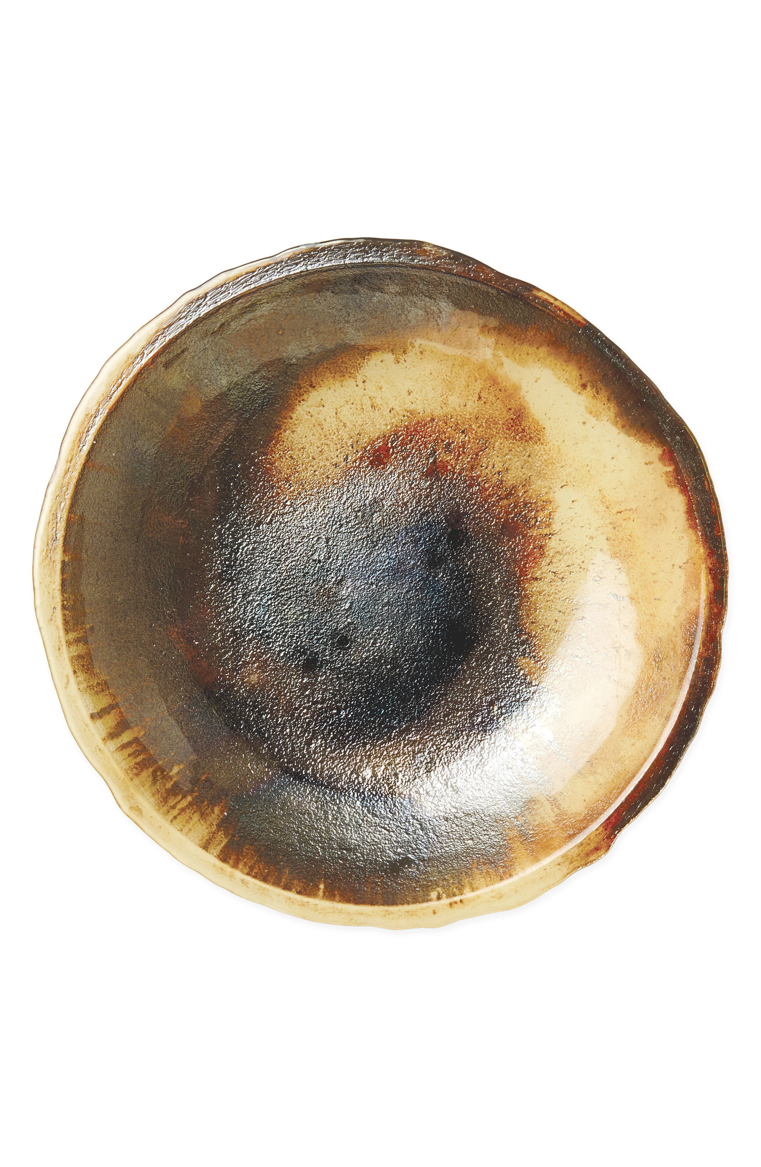 Earth Glass Centerpiece,                             Main thumbnail 1, color,                             Brown/ Gold