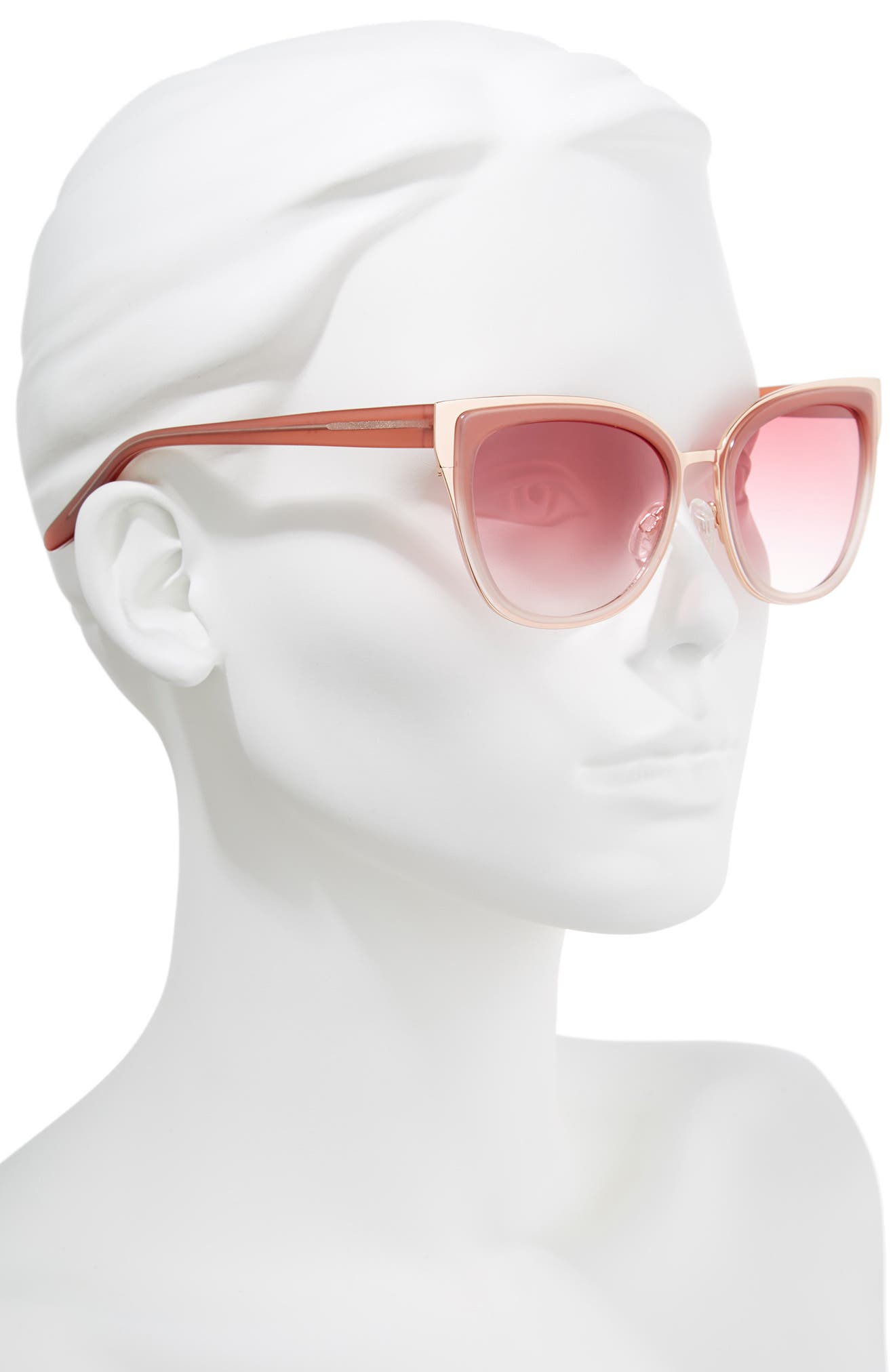 Lillian 56mm Sunglasses,                             Alternate thumbnail 2, color,                             Milky Pink- Rose Gold