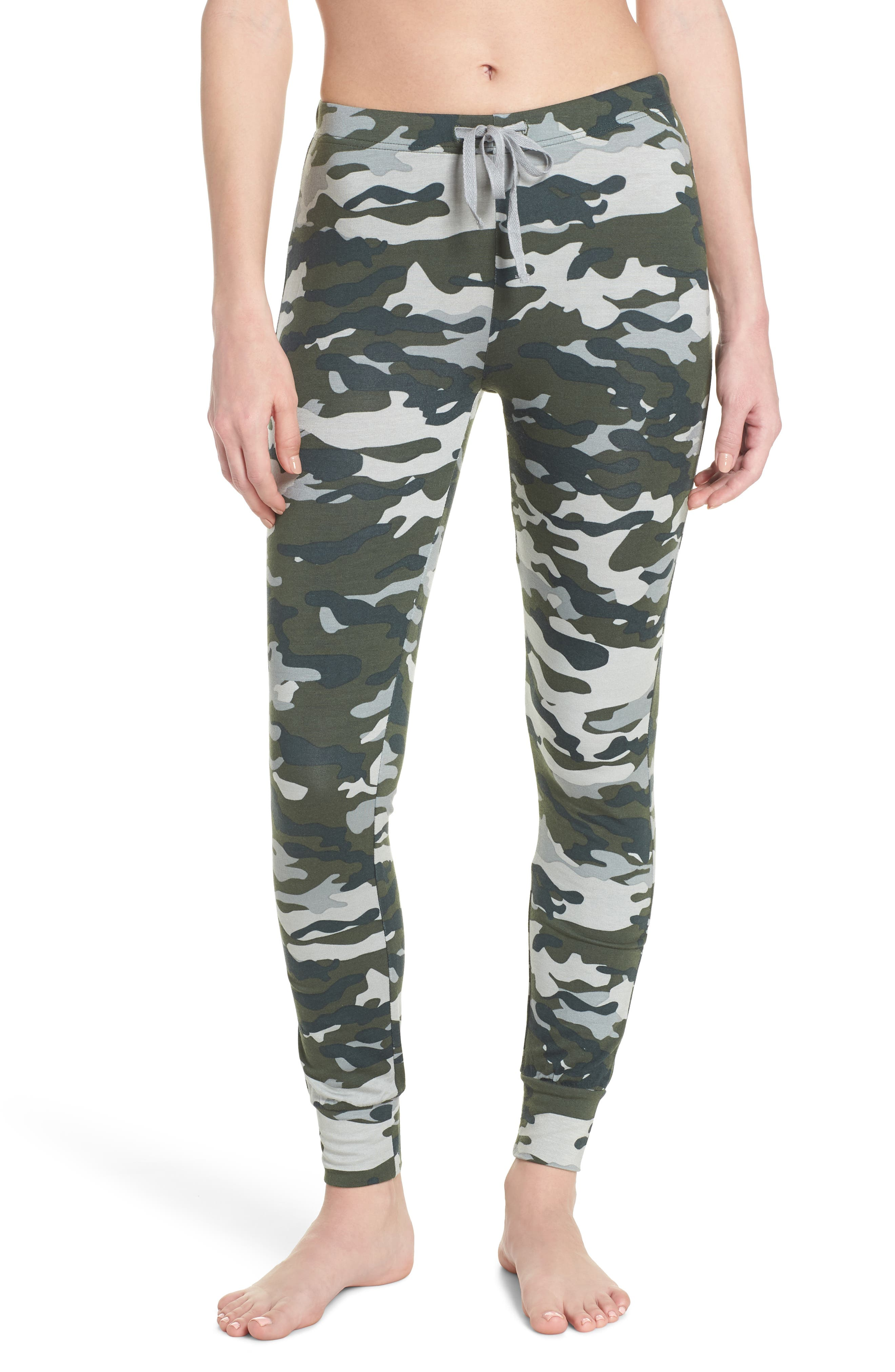 Kickin' It French Terry Lounge Pants,                             Main thumbnail 1, color,                             Army