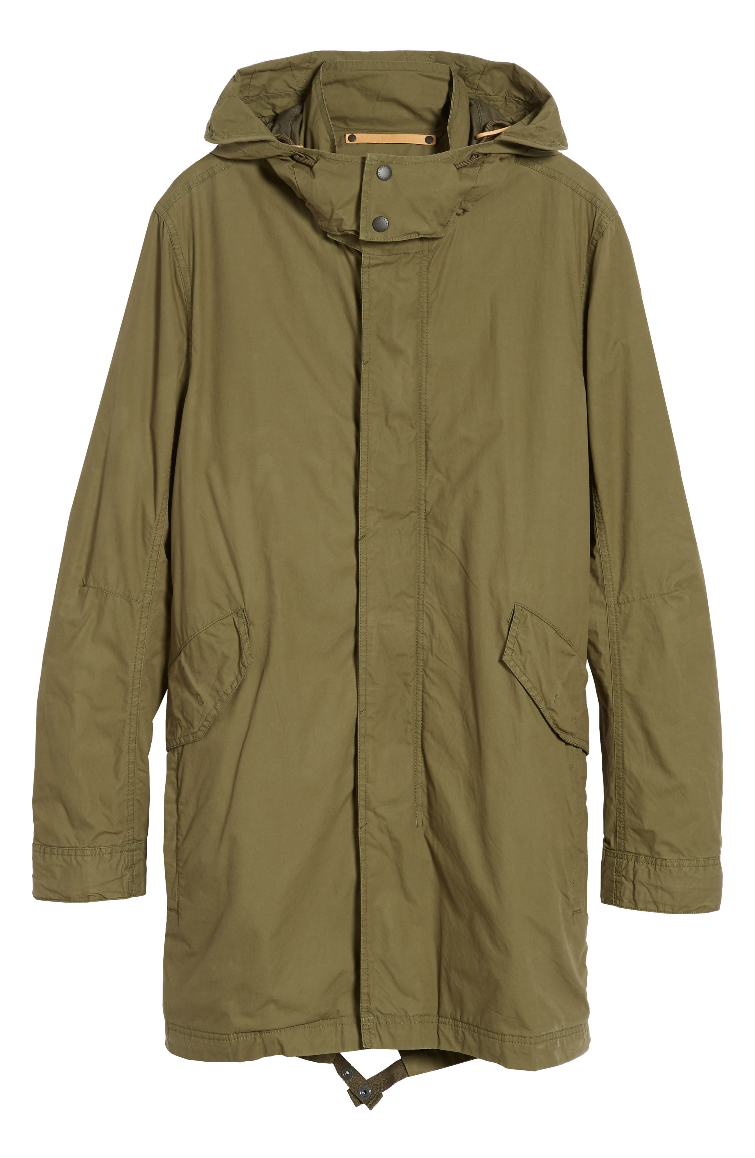 Lightweight Hooded Parka,                             Alternate thumbnail 6, color,                             Fatigue