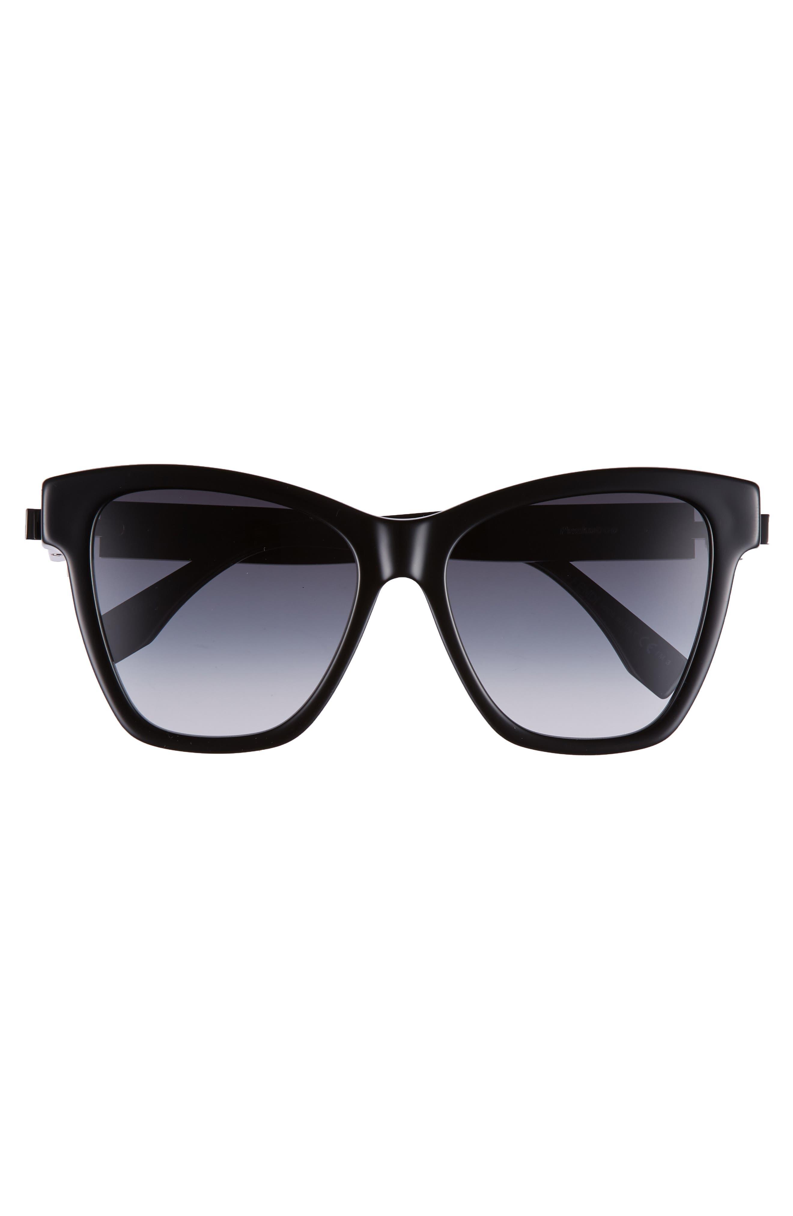 Basic 55mm Sunglasses,                             Alternate thumbnail 3, color,                             Black