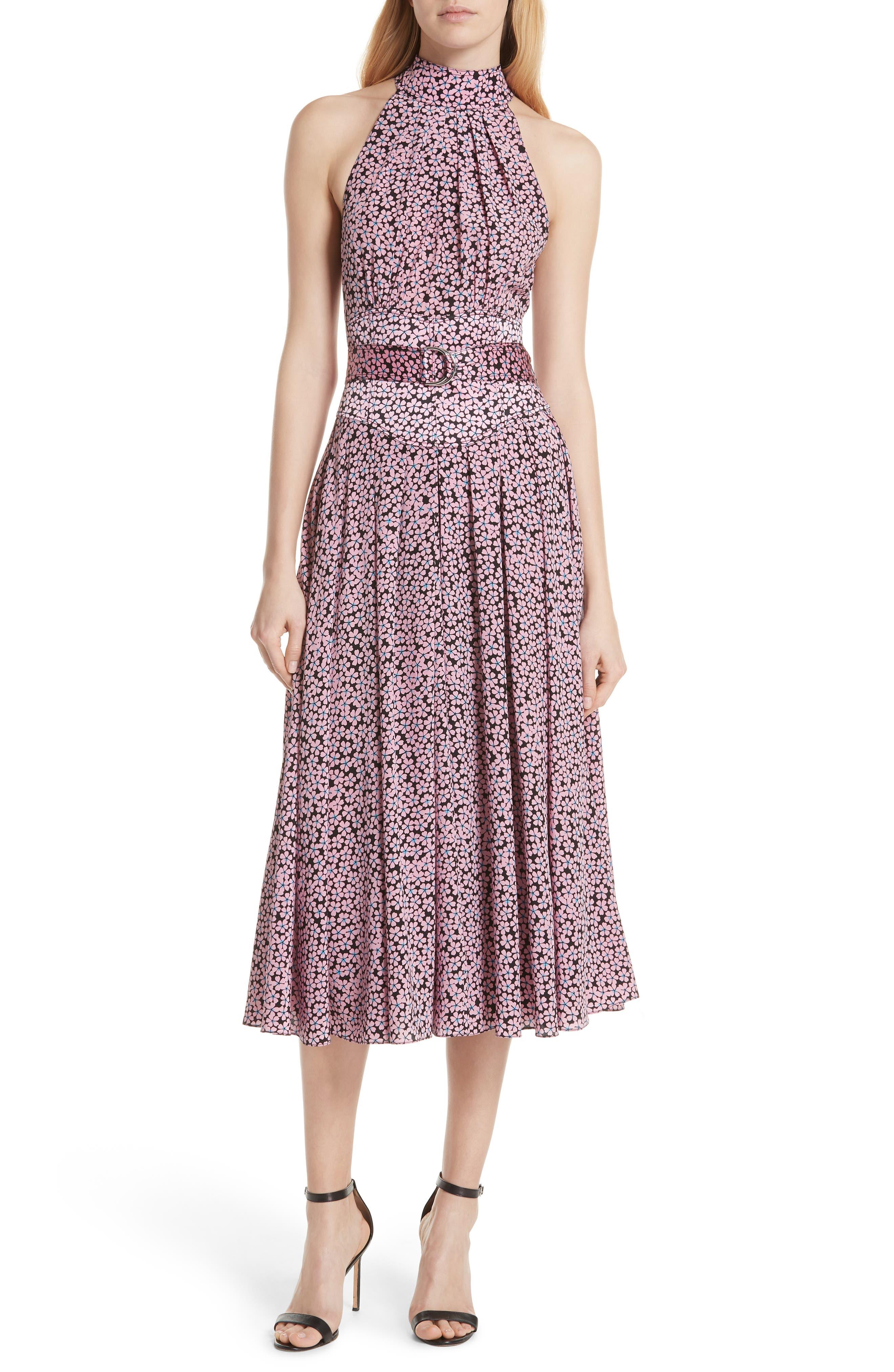 DVF High Neck Silk Dress
