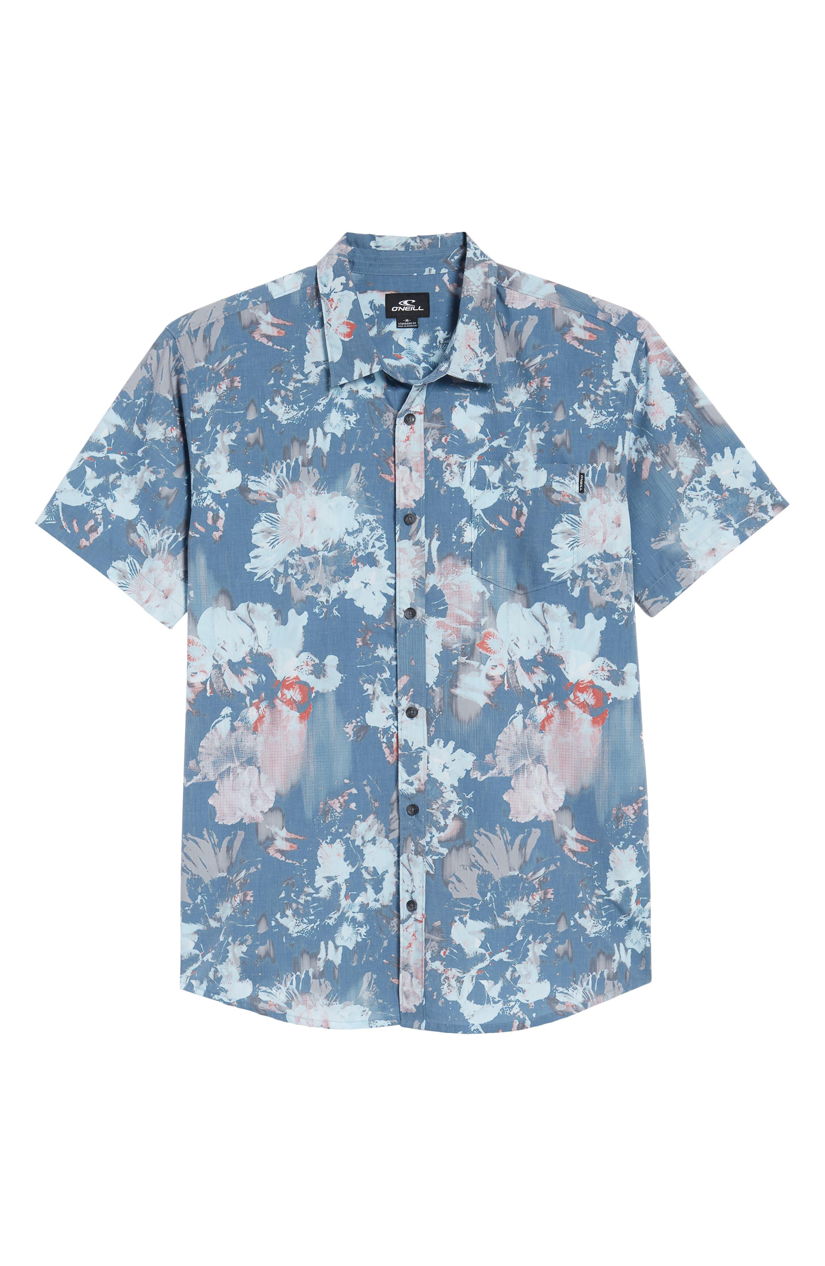 Perennial Woven Shirt,                             Alternate thumbnail 6, color,                             Dust Blue