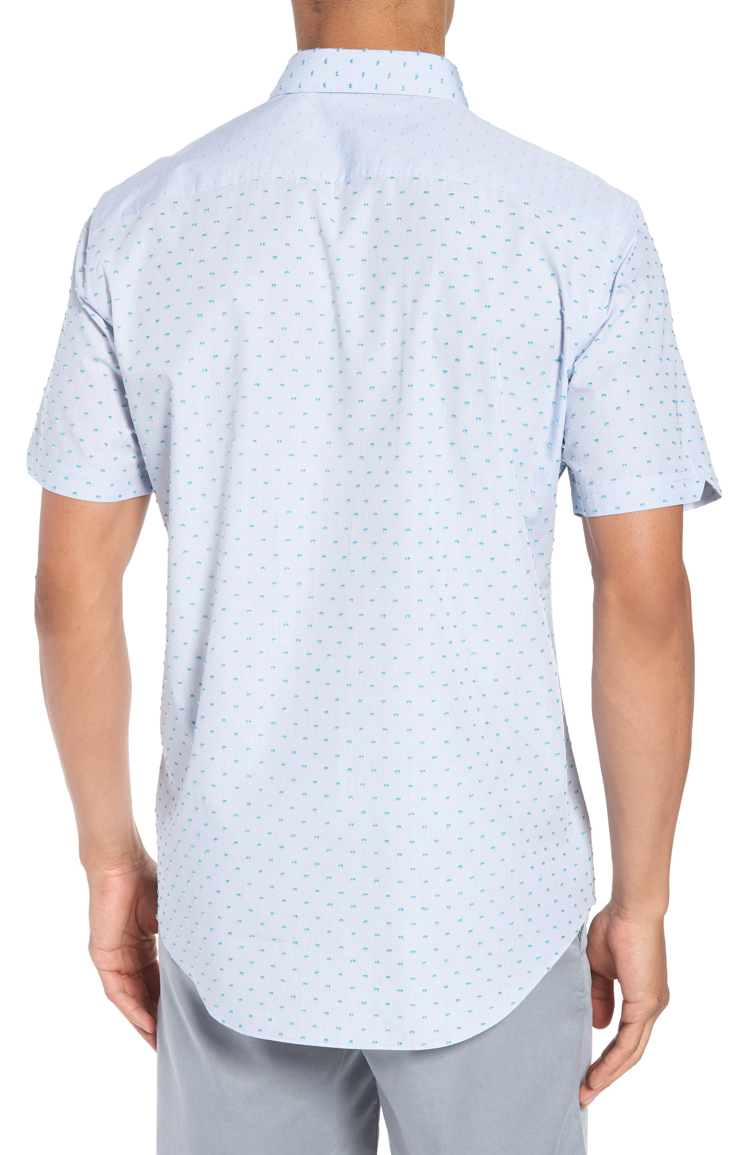 Dolle Fil a Coupe Sport Shirt,                             Alternate thumbnail 2, color,                             Light Blue