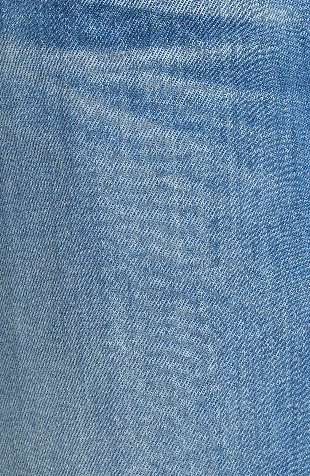 AO.LA Good High Waist Ankle Skinny Jeans,                             Alternate thumbnail 5, color,                             Side Hustle