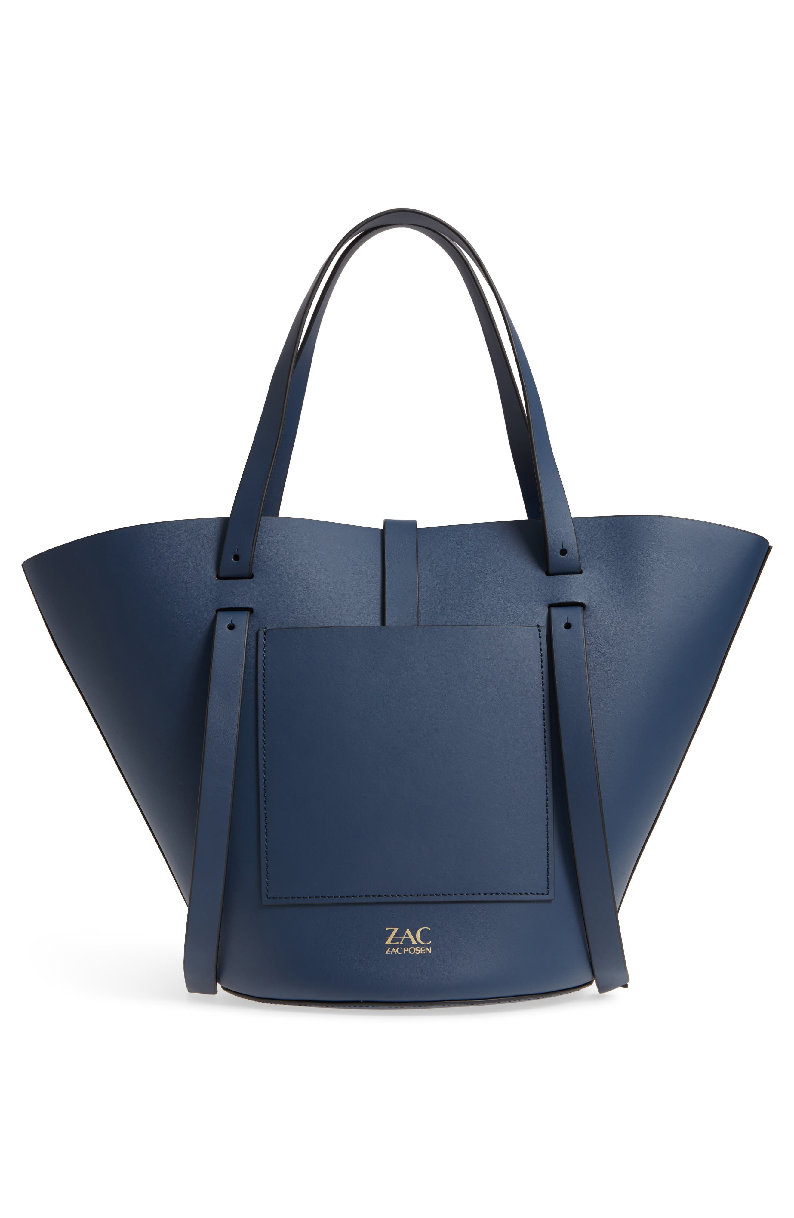 Belay Leather Crossbody Tote,                             Alternate thumbnail 3, color,                             Blue