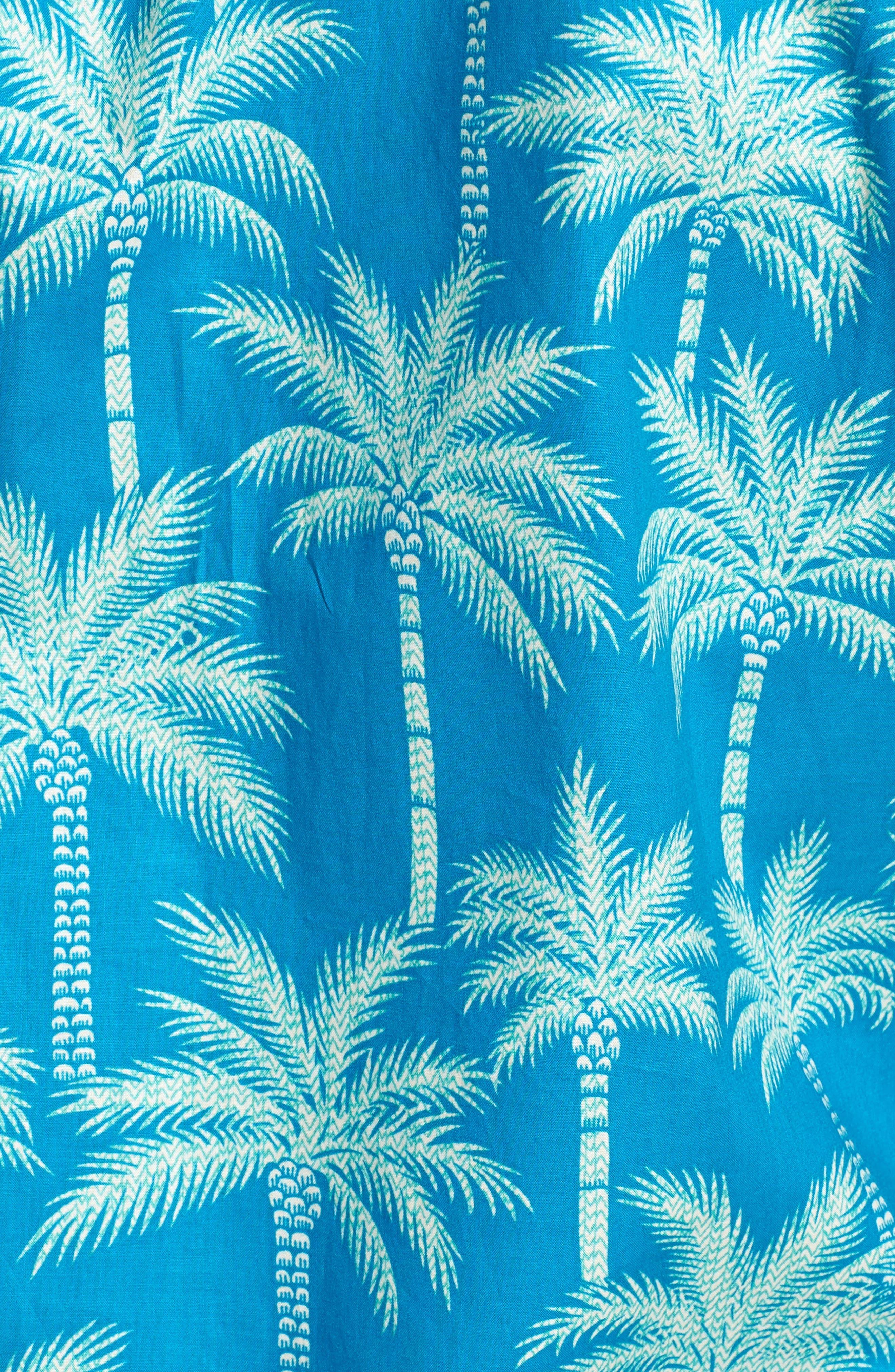 Erté Palm Camp Shirt,                             Alternate thumbnail 5, color,                             Wave