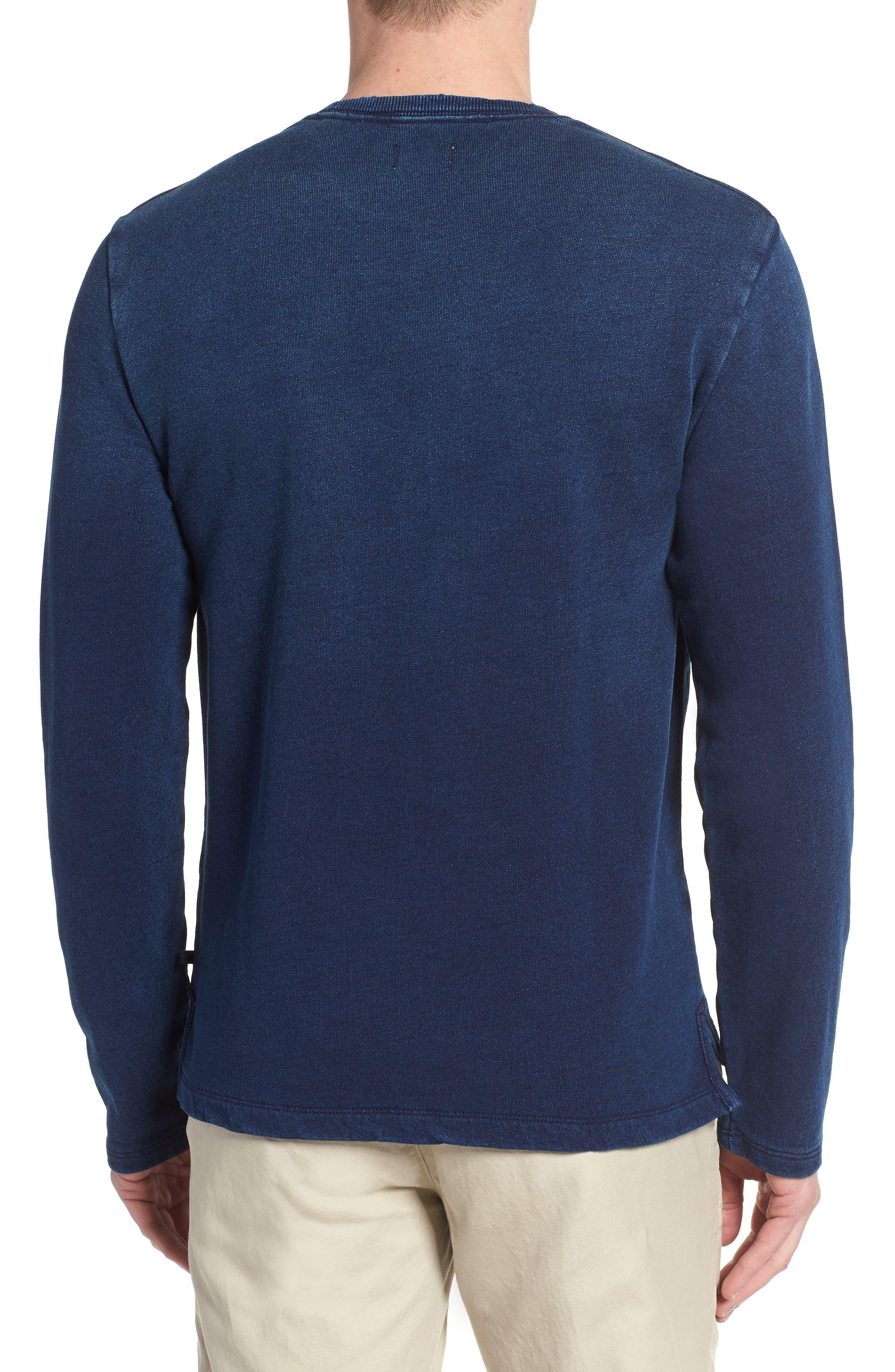 Byron Crewneck Cotton Pocket Sweatshirt,                             Alternate thumbnail 2, color,                             Harbor