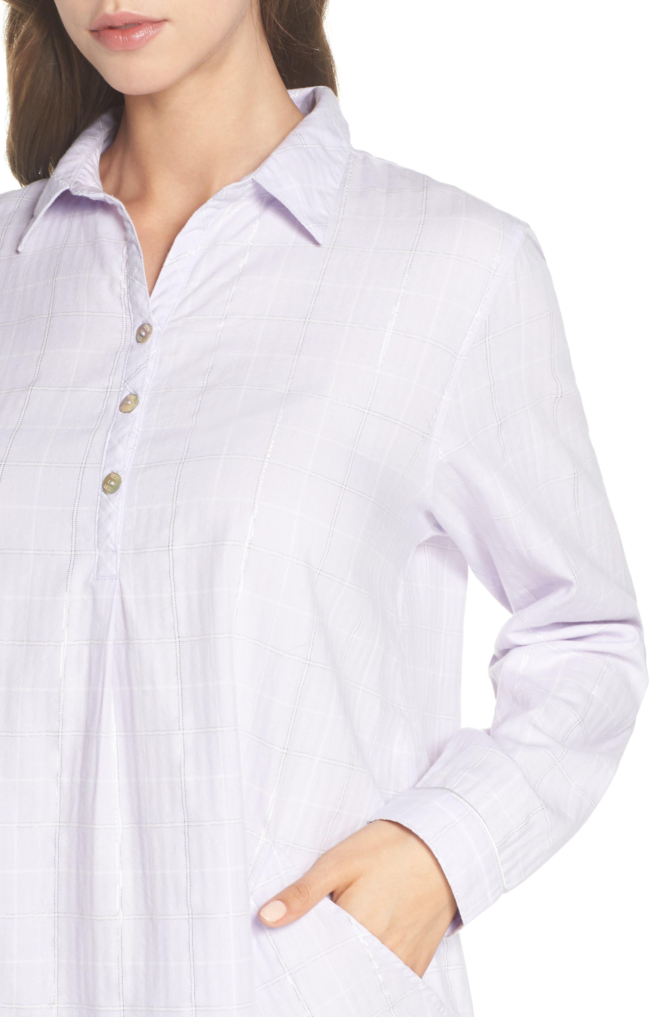 Gabri Sleep Shirt,                             Alternate thumbnail 5, color,                             Lavender Fog