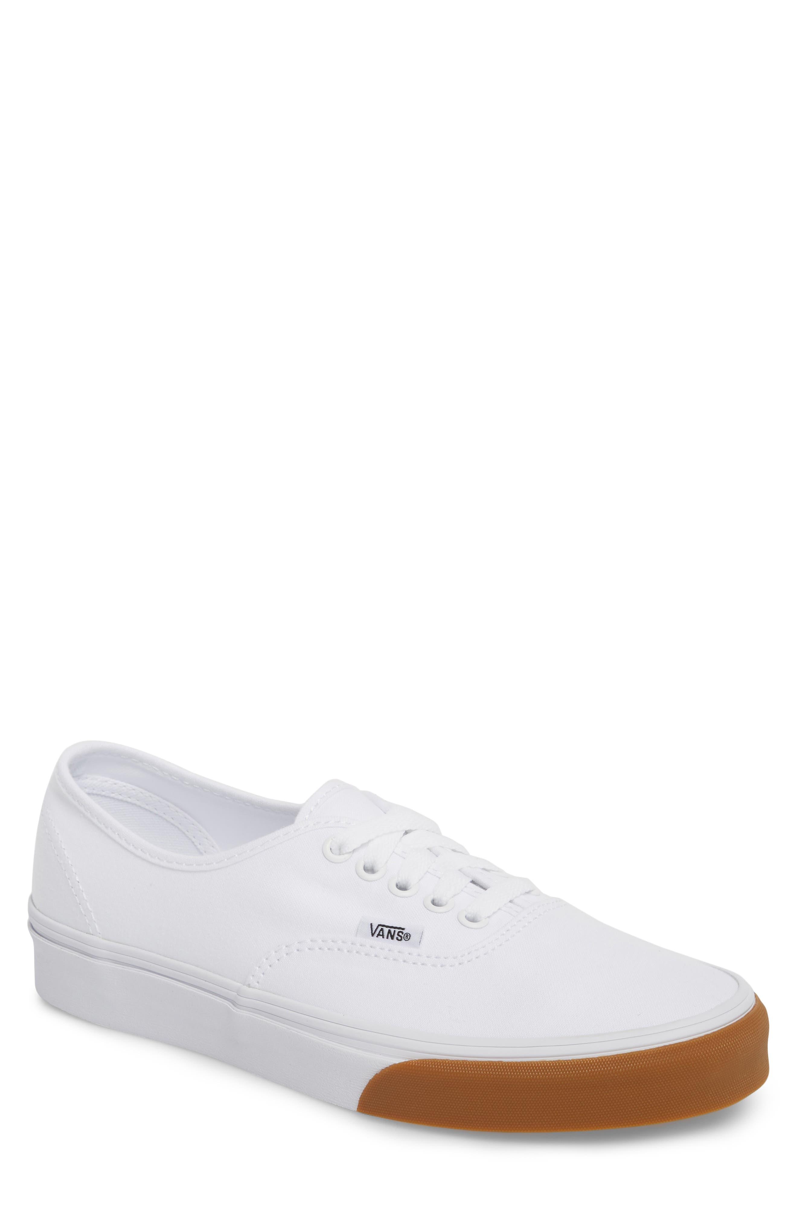 Authentic Gum Bumper Sneaker,                             Main thumbnail 1, color,                             True White/ True White
