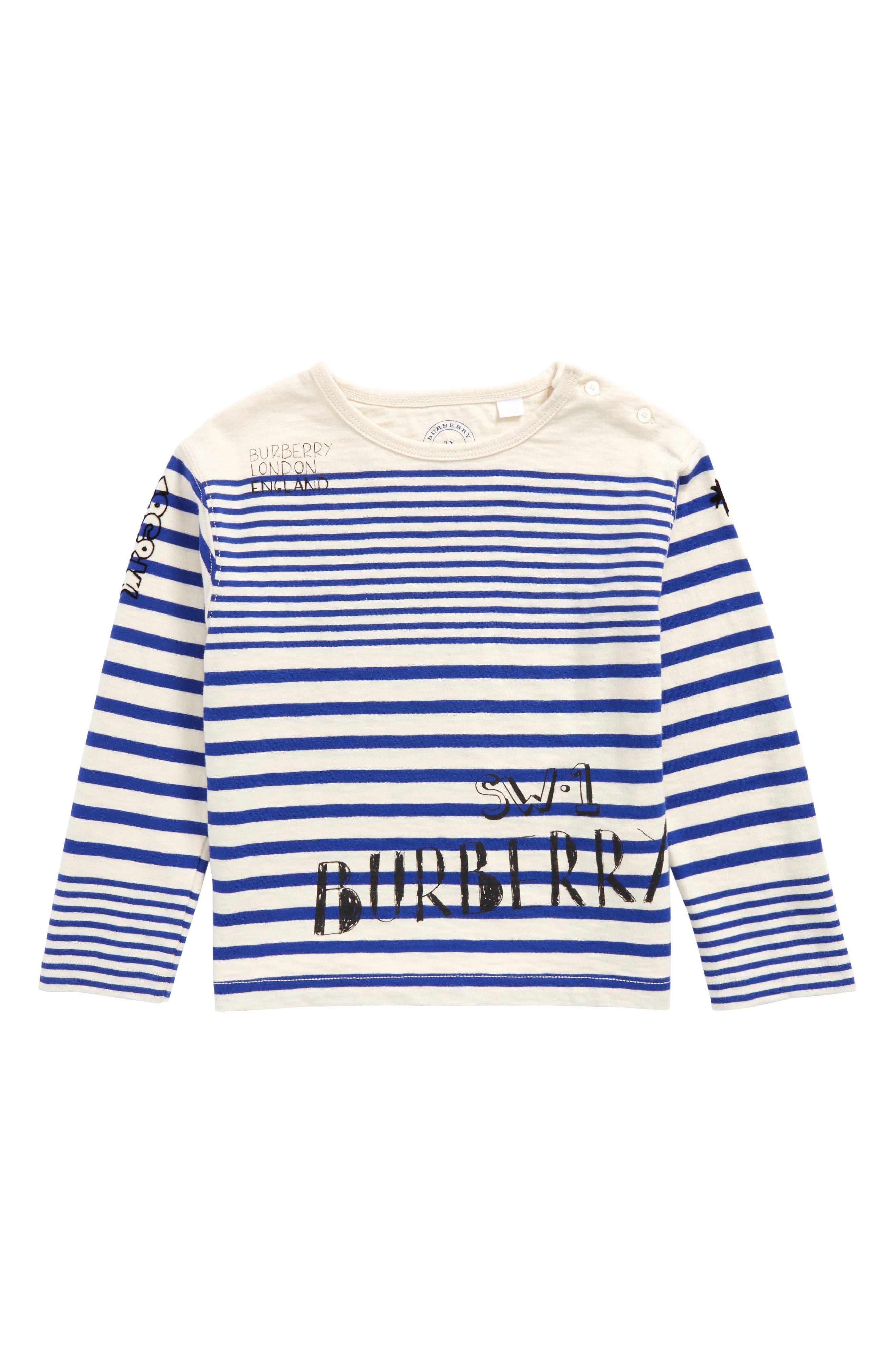 Main Image - Burberry Stripe T-Shirt (Toddler Boys)