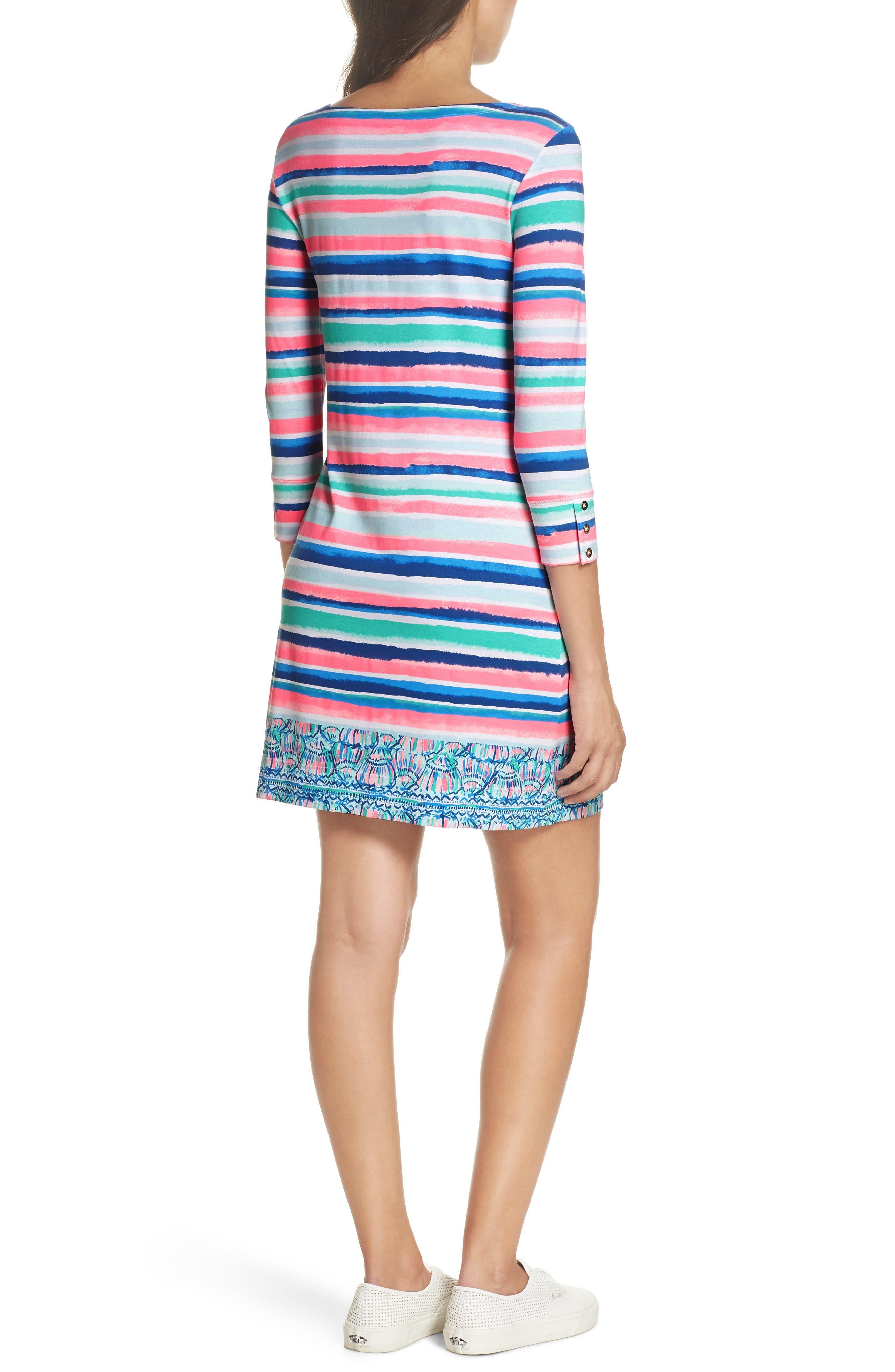 Sophie UPF 50+ Dress,                             Alternate thumbnail 2, color,                             Multi Sandy Shell Stripe