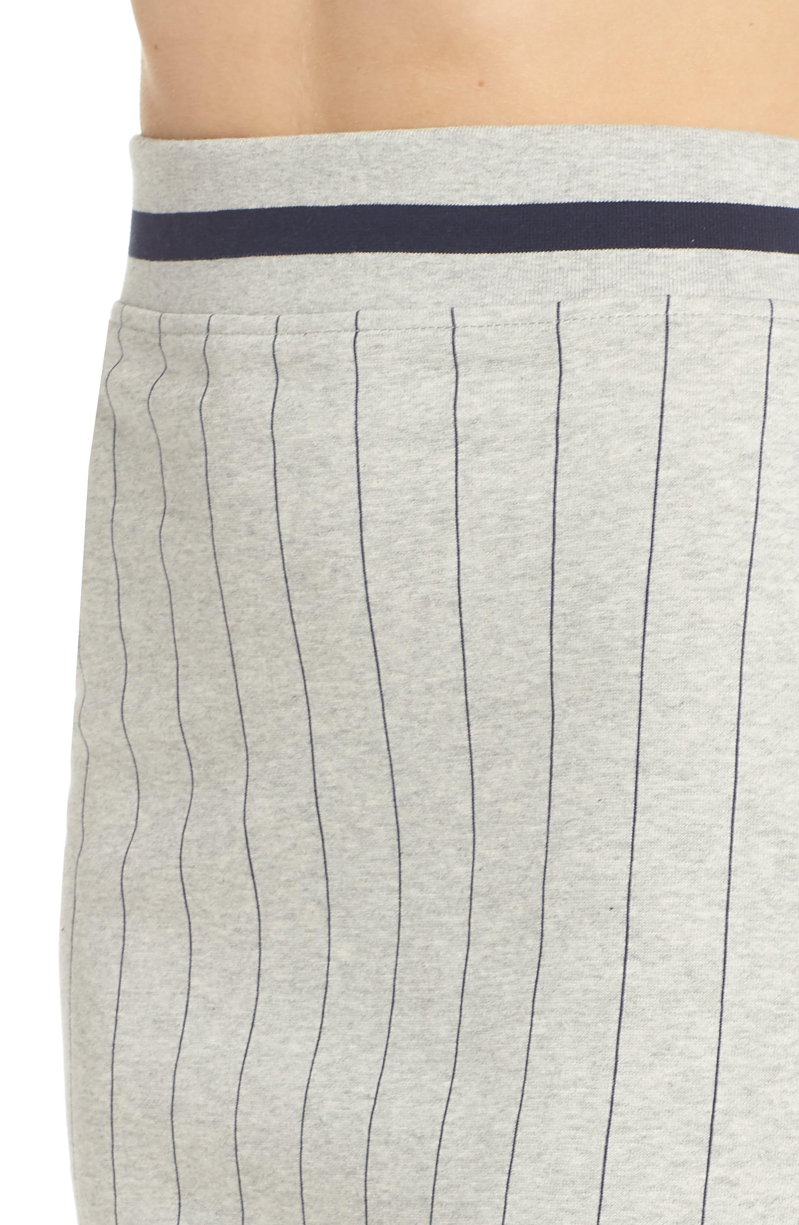 Francesca Pinstripe Skirt,                             Alternate thumbnail 6, color,                             Light Grey Marl/ Peacoat