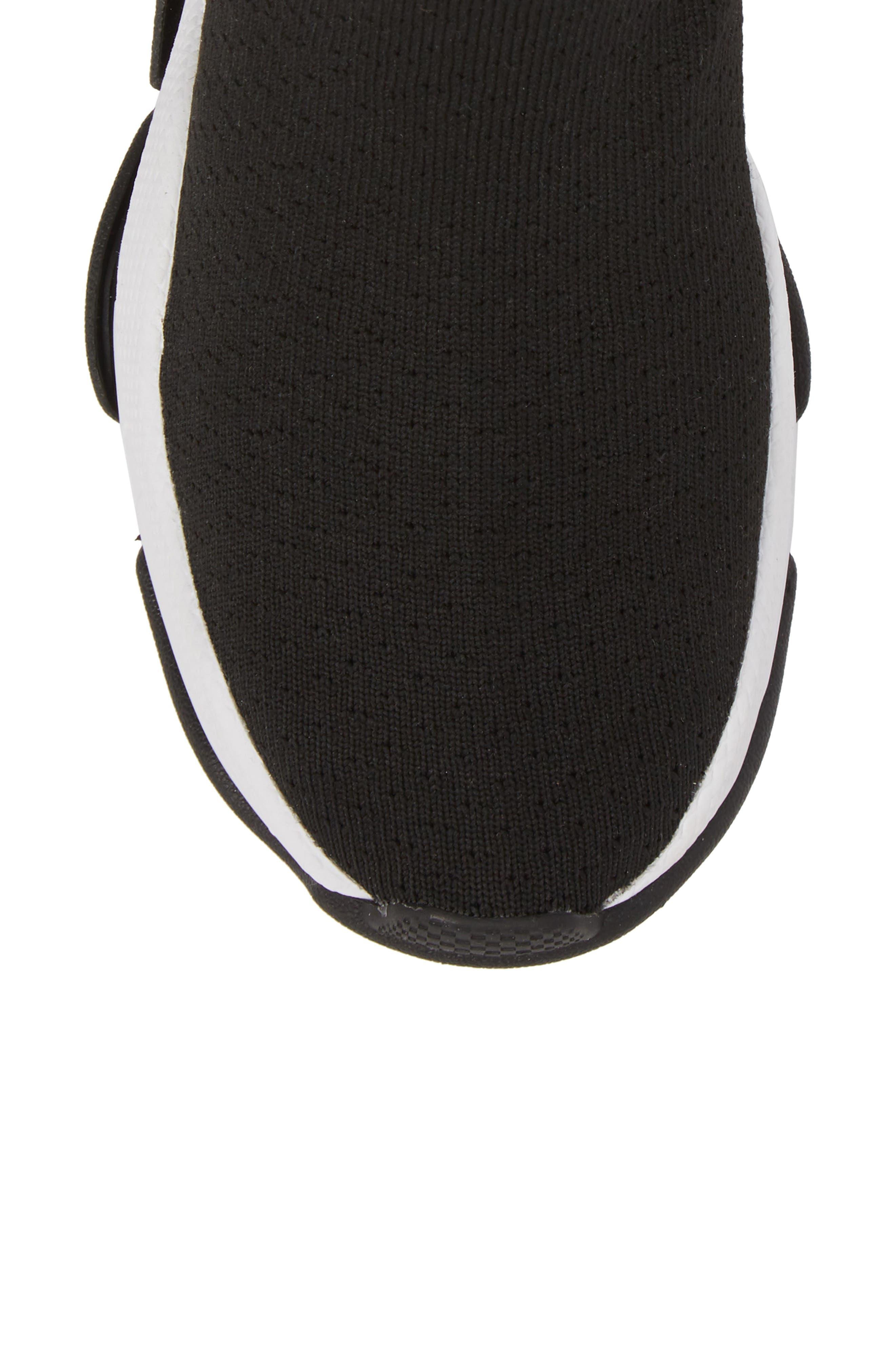 Tenko Ankle High Top Sock Sneaker,                             Alternate thumbnail 5, color,                             Black/ White Stripe Fabric
