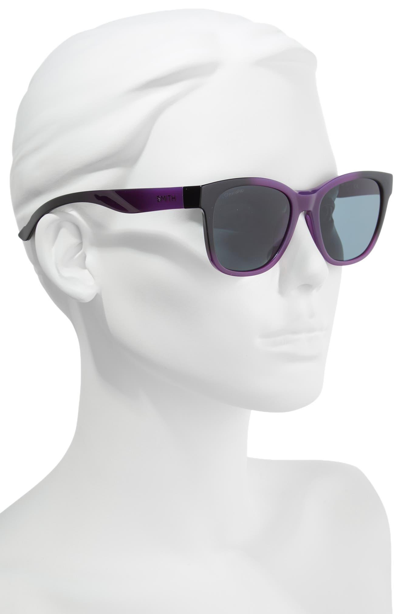 Caper 53mm ChromaPop<sup>™</sup> Square Sunglasses,                             Alternate thumbnail 2, color,                             Violet Spray