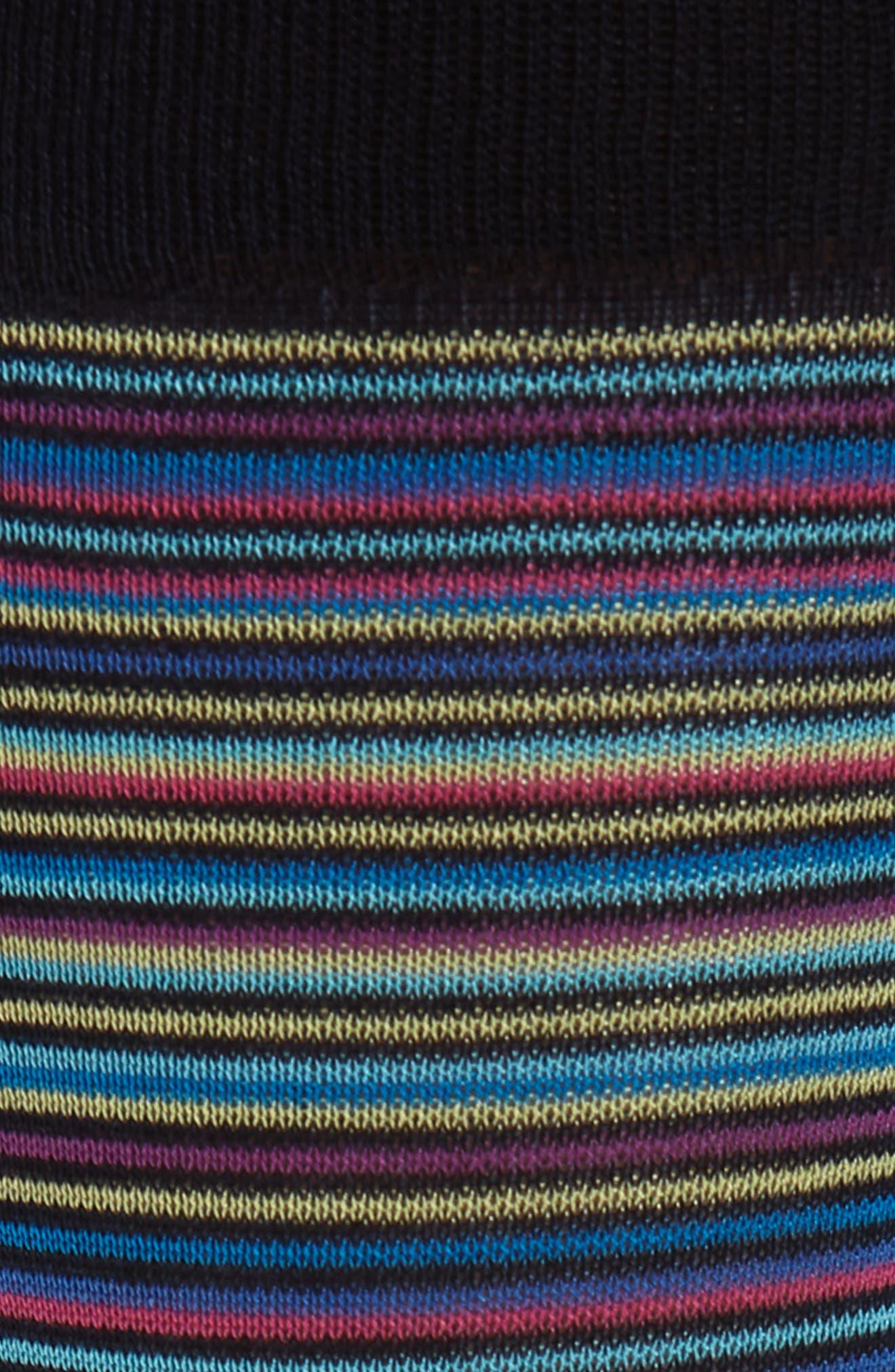 Stripe Mercerized Cotton Blend Socks,                             Alternate thumbnail 2, color,                             Berry