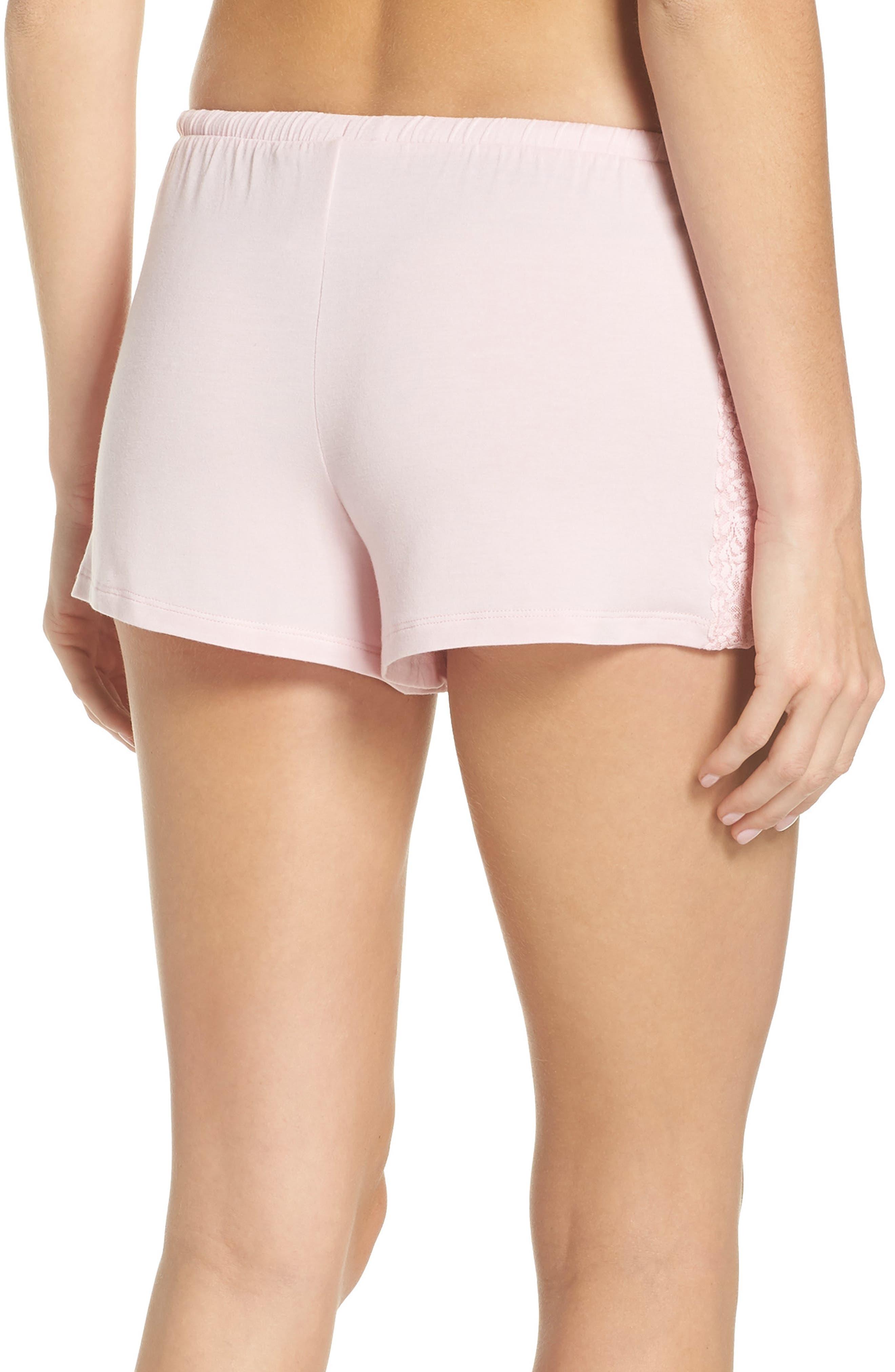 Pajama Shorts,                             Alternate thumbnail 2, color,                             Pink