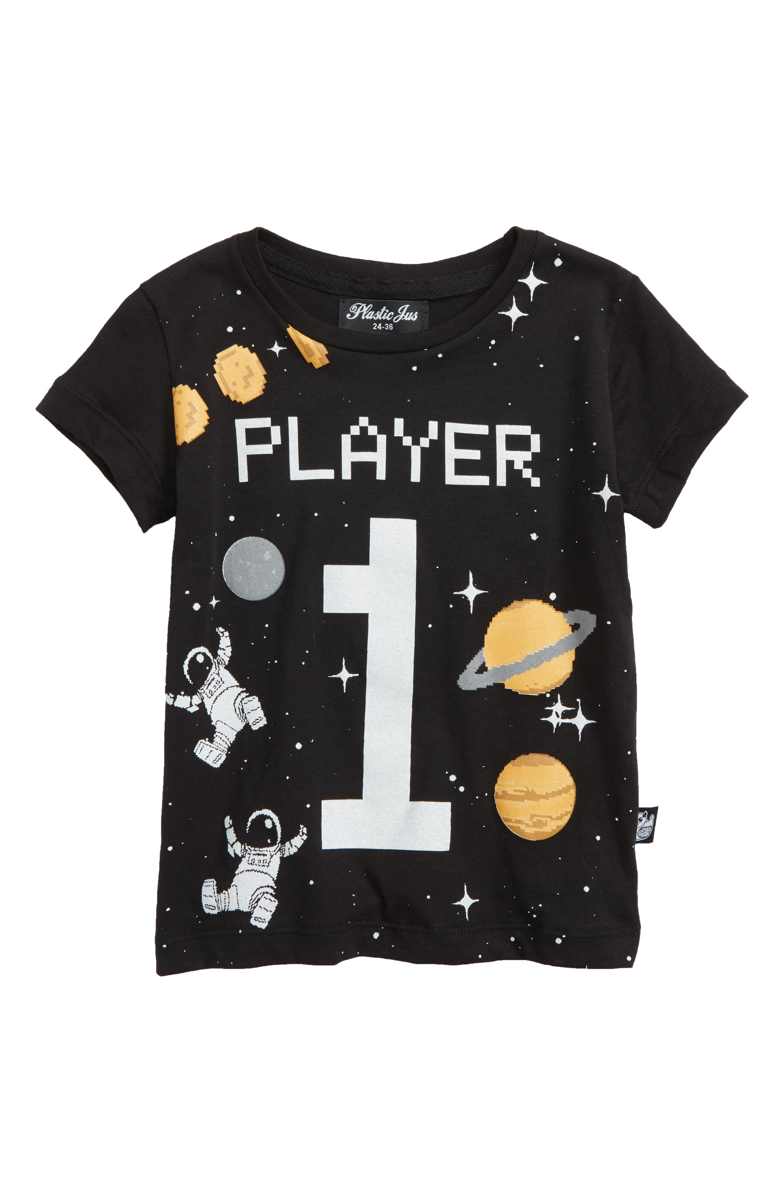 Player Graphic T-Shirt,                             Main thumbnail 1, color,                             Black Player