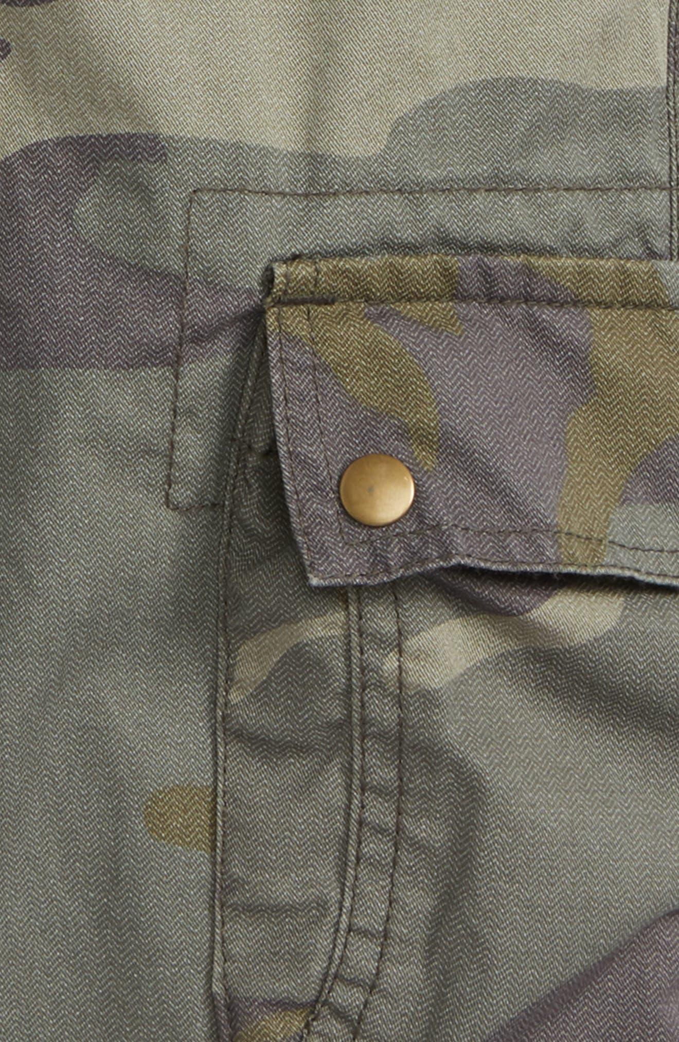 Camo Cargo Shorts,                             Alternate thumbnail 3, color,                             Olive