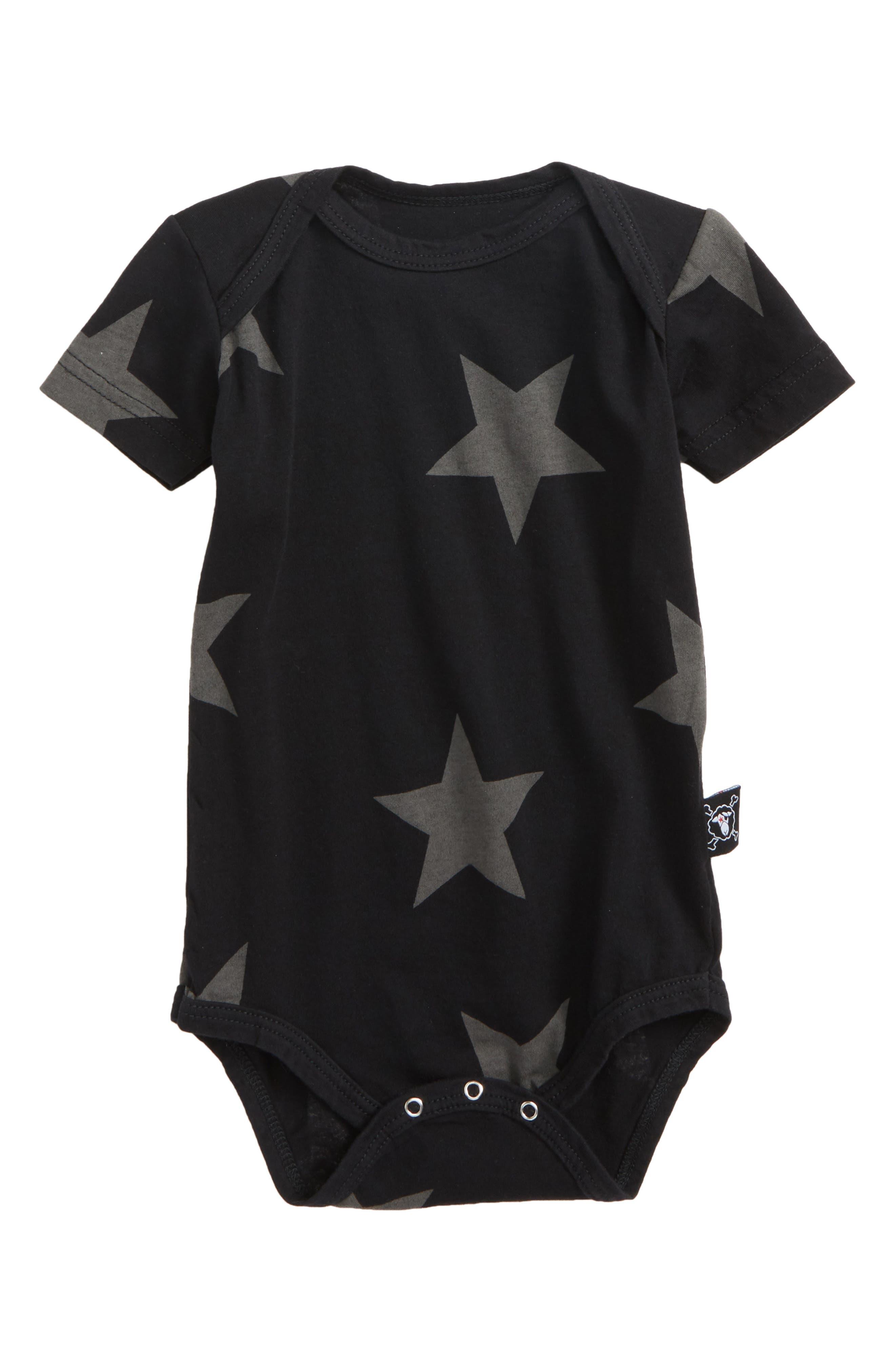 Star Bodysuit Bodysuit,                             Main thumbnail 1, color,                             Black