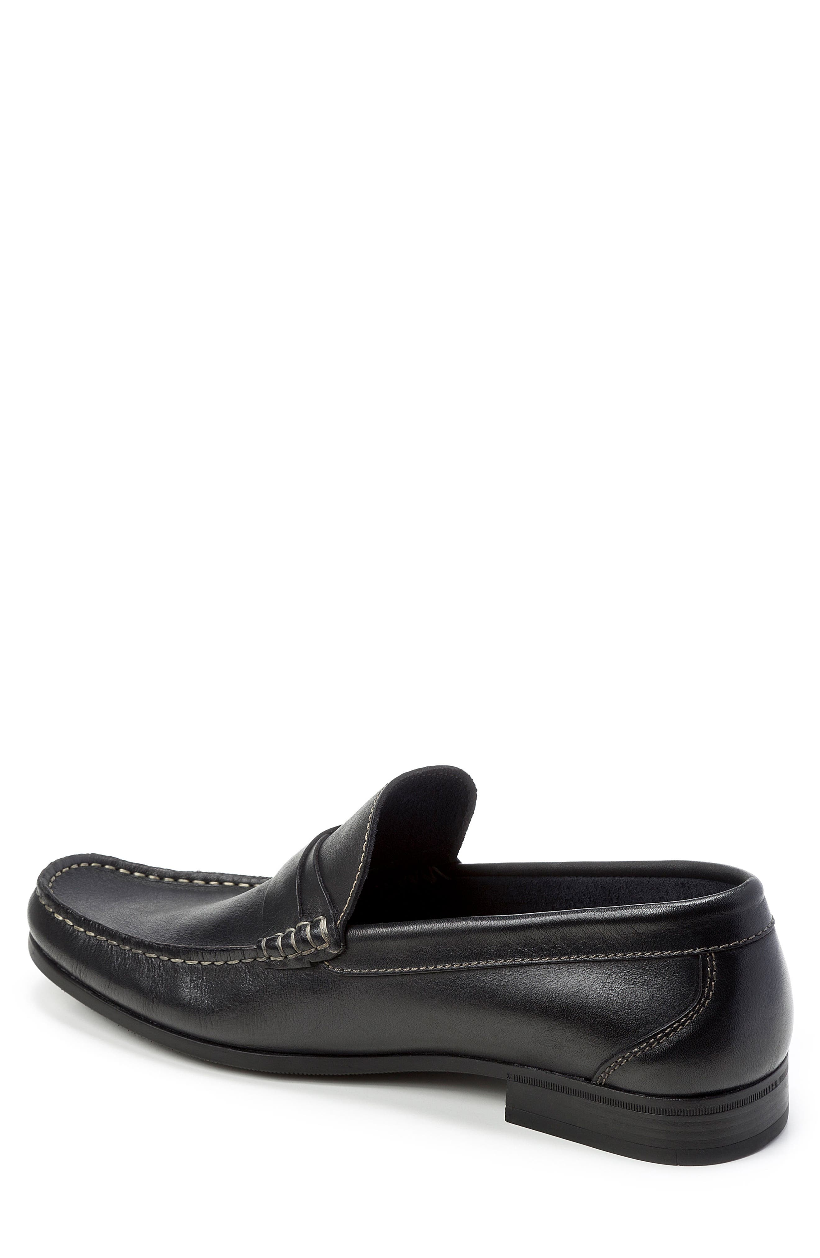Abruzo Cross Strap Loafer,                             Alternate thumbnail 2, color,                             Black