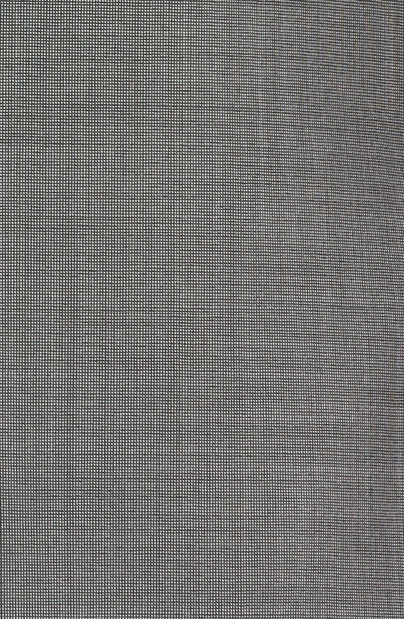 Trim Fit Solid Wool & Silk Suit,                             Alternate thumbnail 7, color,                             Grey