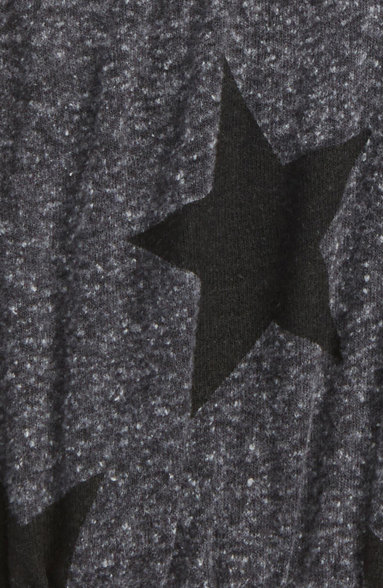 Star Print Yoga Shorts,                             Alternate thumbnail 2, color,                             Charcoal