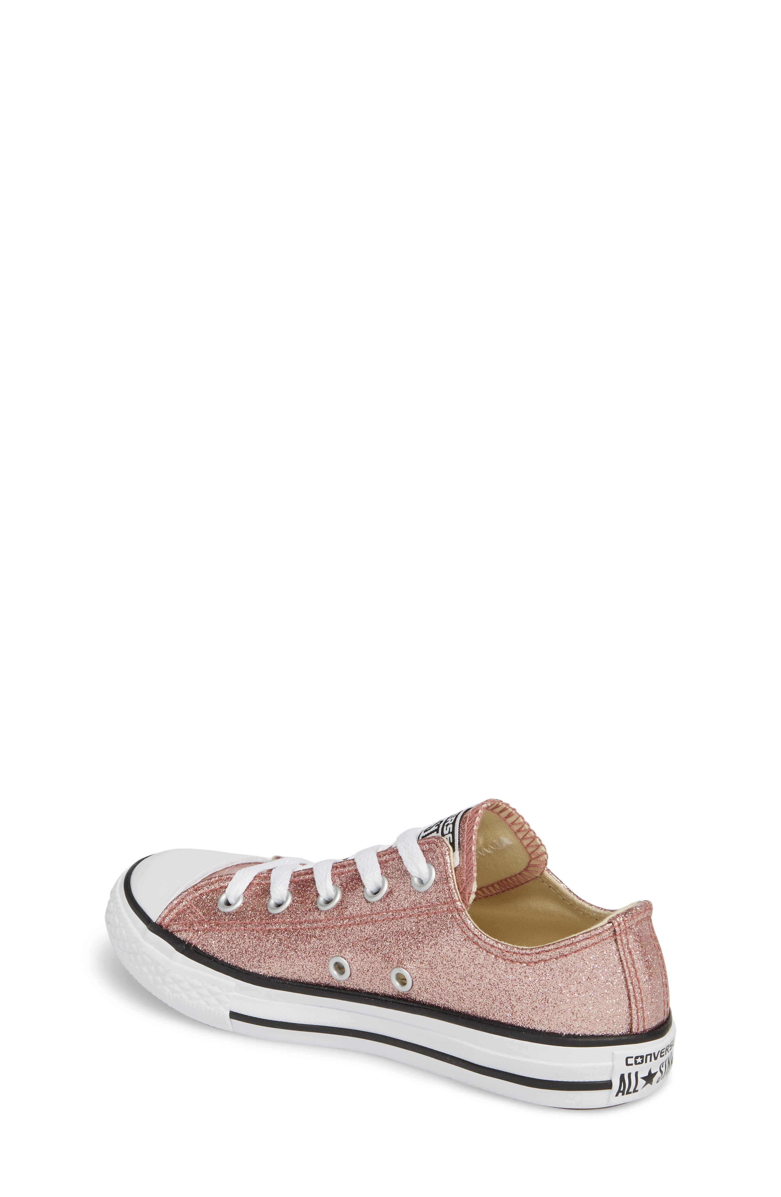 Chuck Taylor<sup>®</sup> All Star<sup>®</sup> Glitter Slip-On,                             Alternate thumbnail 2, color,                             Rose Gold