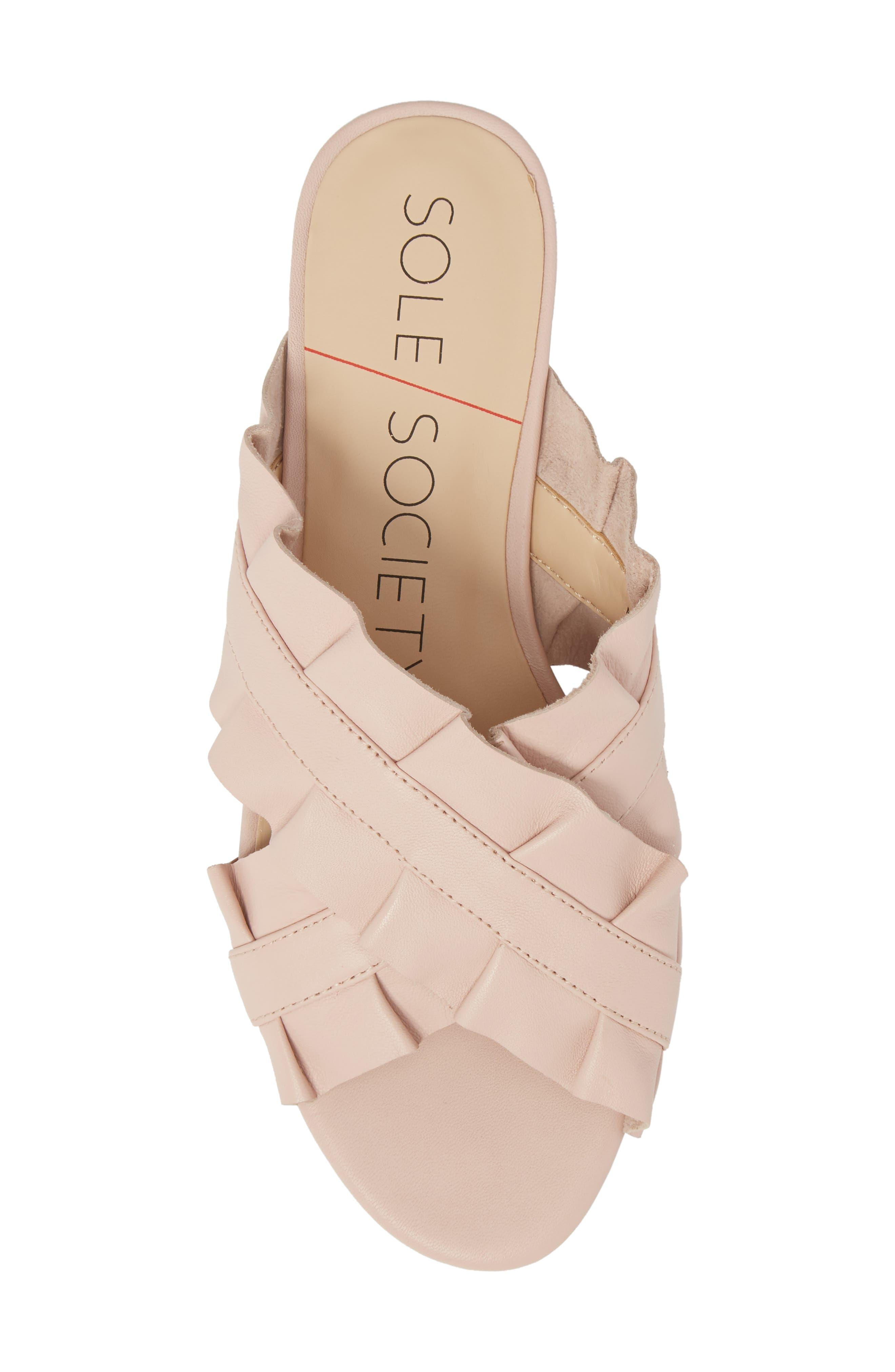 Mandi Slide Sandal,                             Alternate thumbnail 5, color,                             Spring Blush