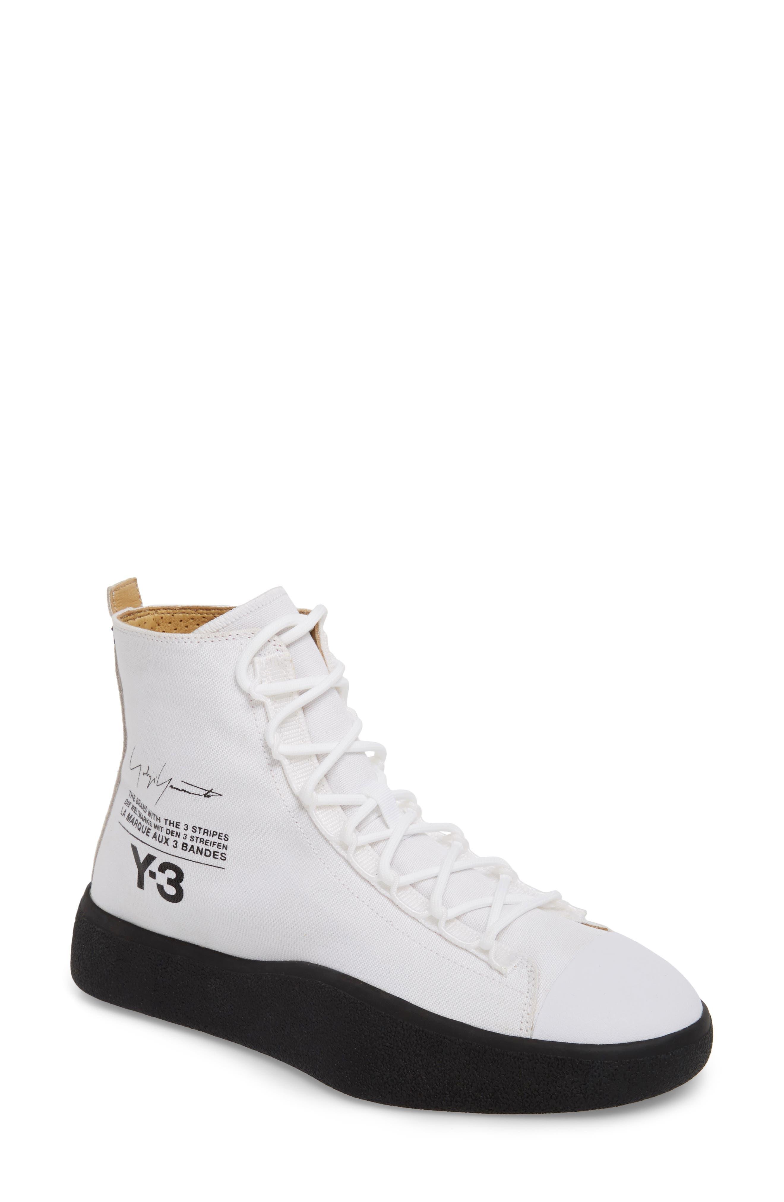 Bashyo High Top Sneaker,                         Main,                         color, White/ Black
