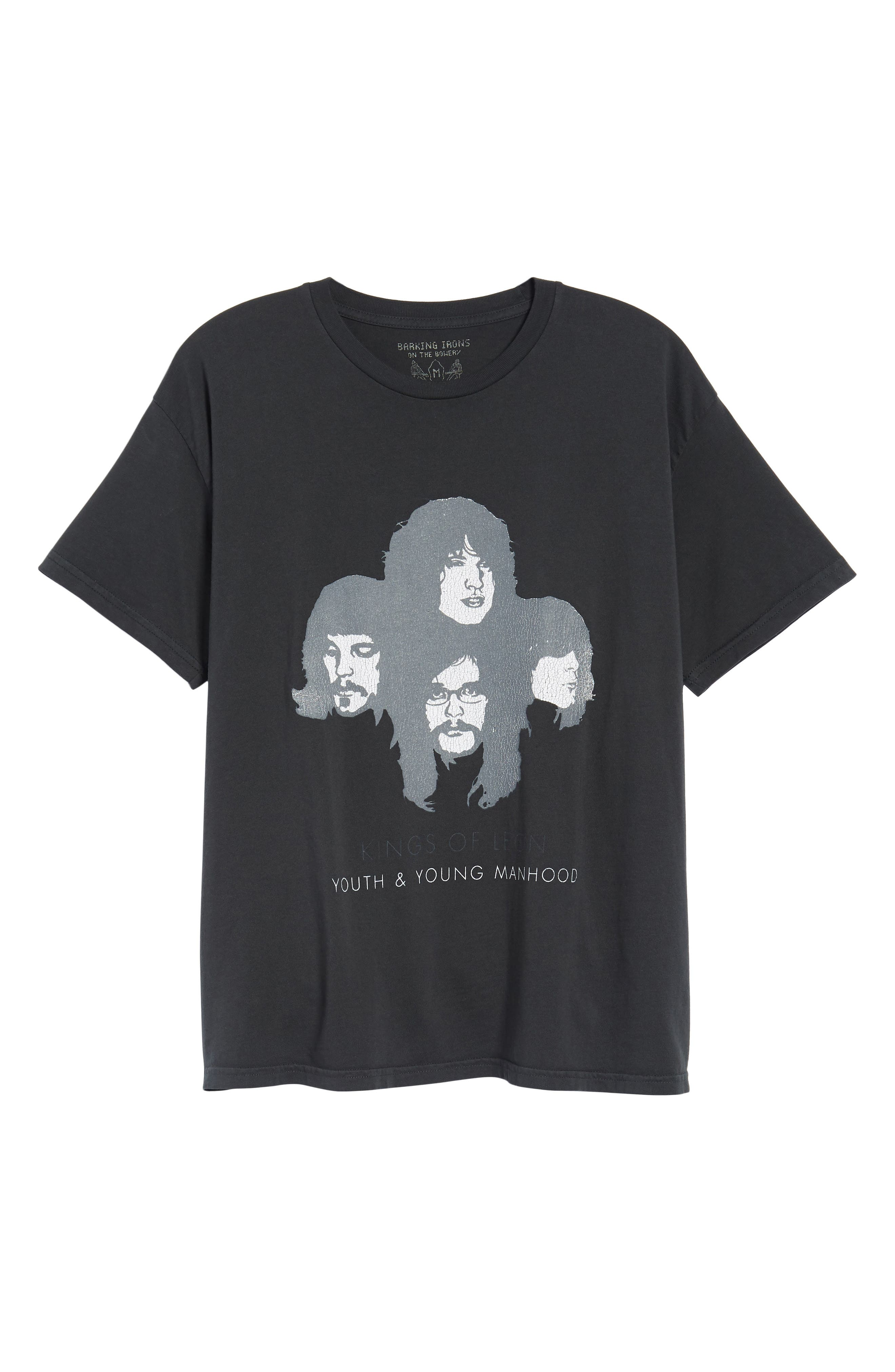 Kings of Leon Youth and Young Manhood T-Shirt,                             Alternate thumbnail 6, color,                             Dusty Black