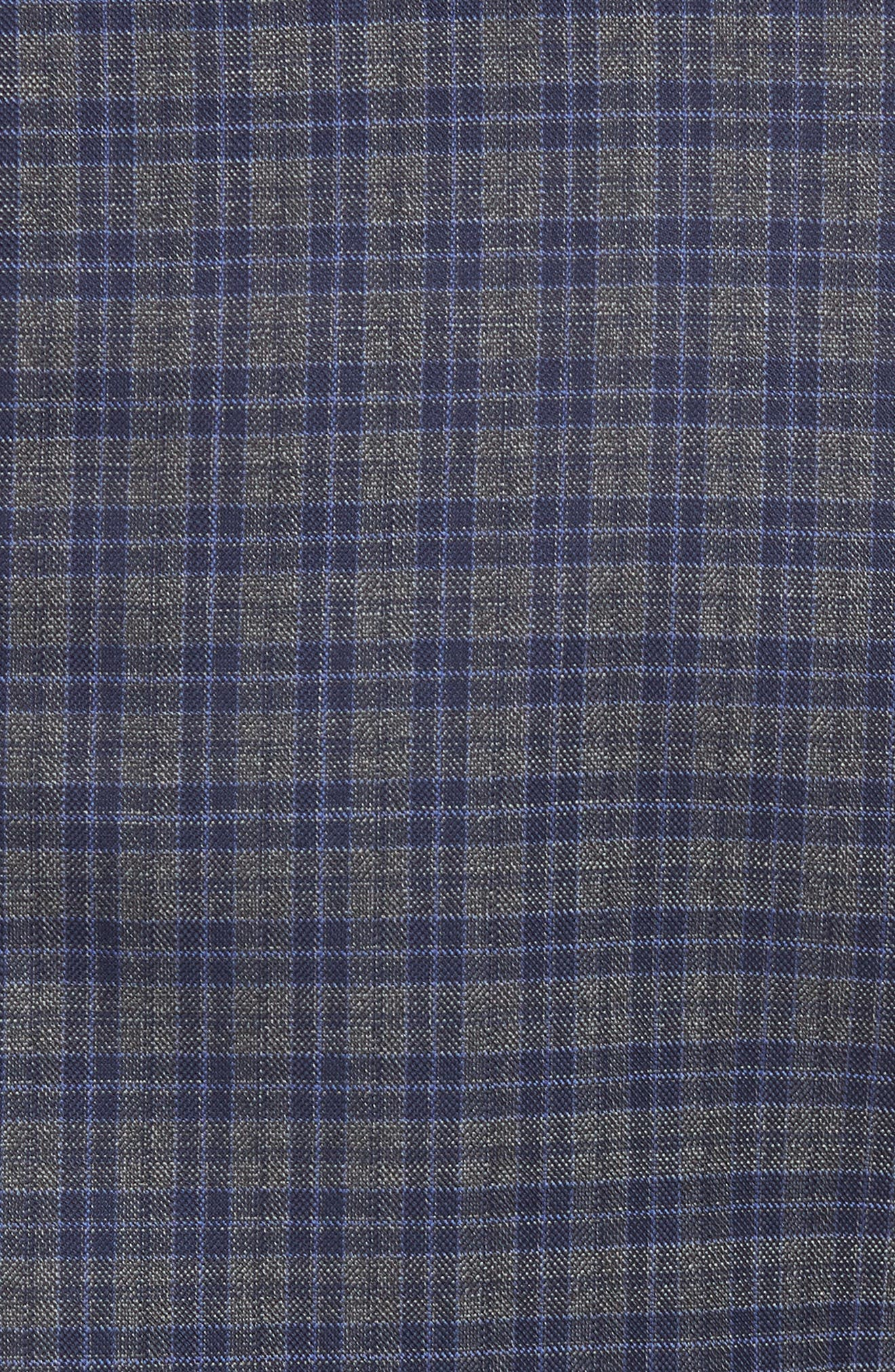 Classic Fit Check Wool Sport Coat,                             Alternate thumbnail 5, color,                             Grey/Blue