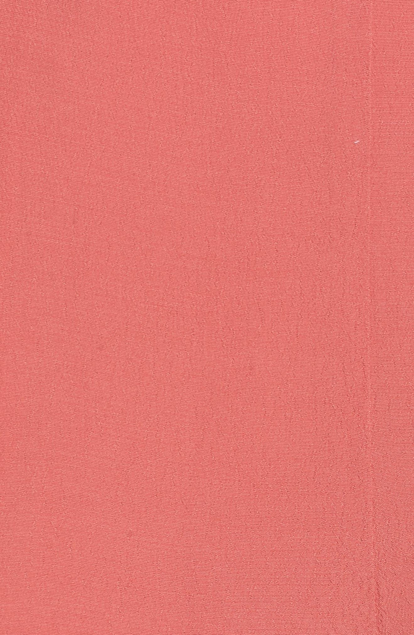 High Waist Crop Wide Leg Pants,                             Alternate thumbnail 6, color,                             Coral Faded