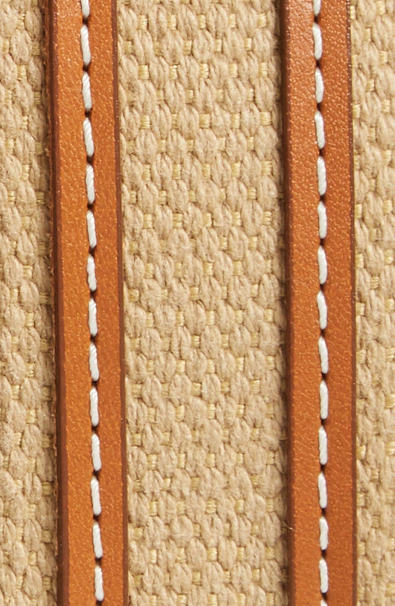 Canvas Strap Belt,                             Alternate thumbnail 2, color,                             Khaki/ Walnut