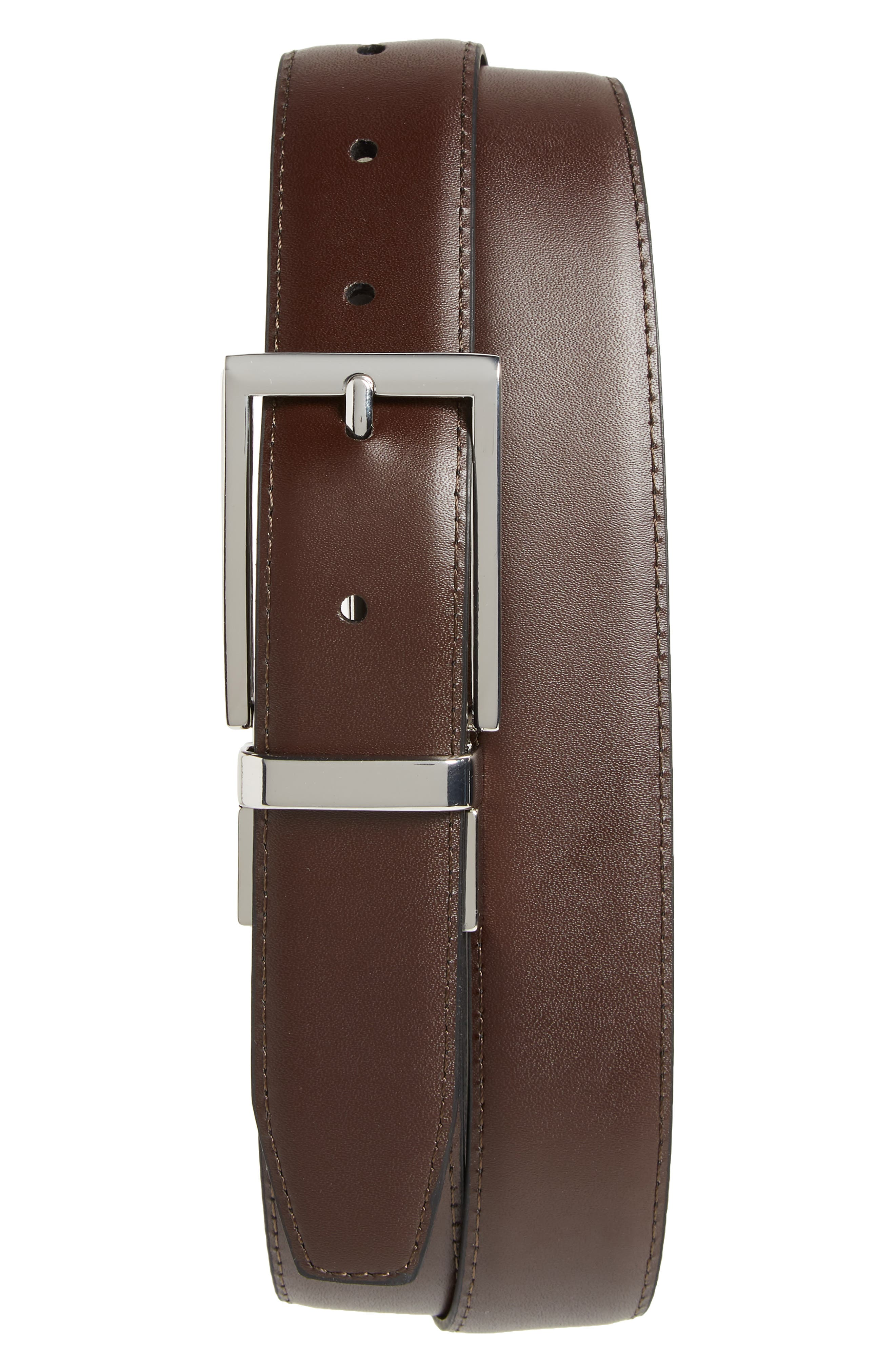 Newman Reversible Leather Belt,                         Main,                         color, Black/ Brown