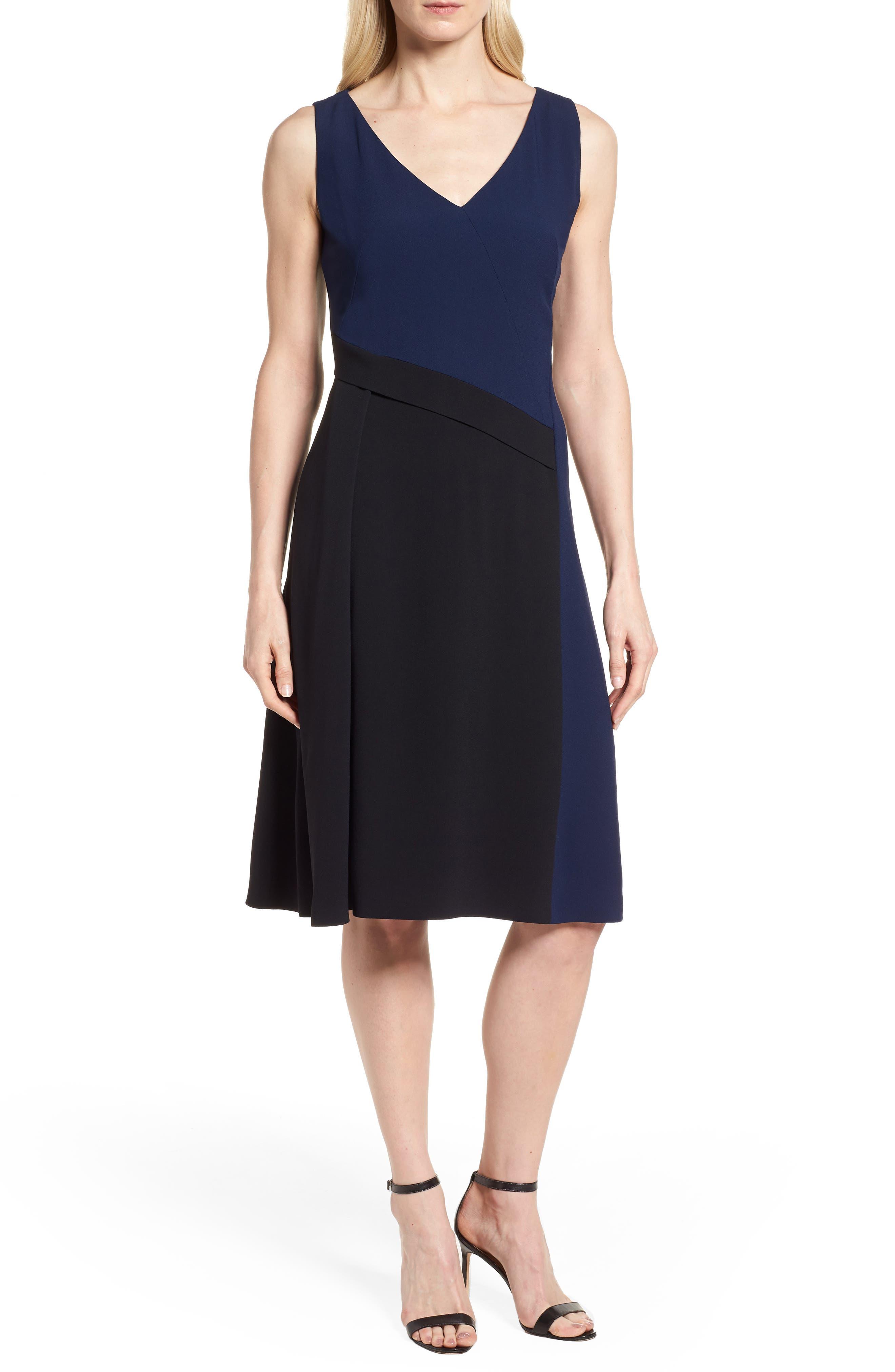 Demana A-Line Dress,                             Main thumbnail 1, color,                             Black